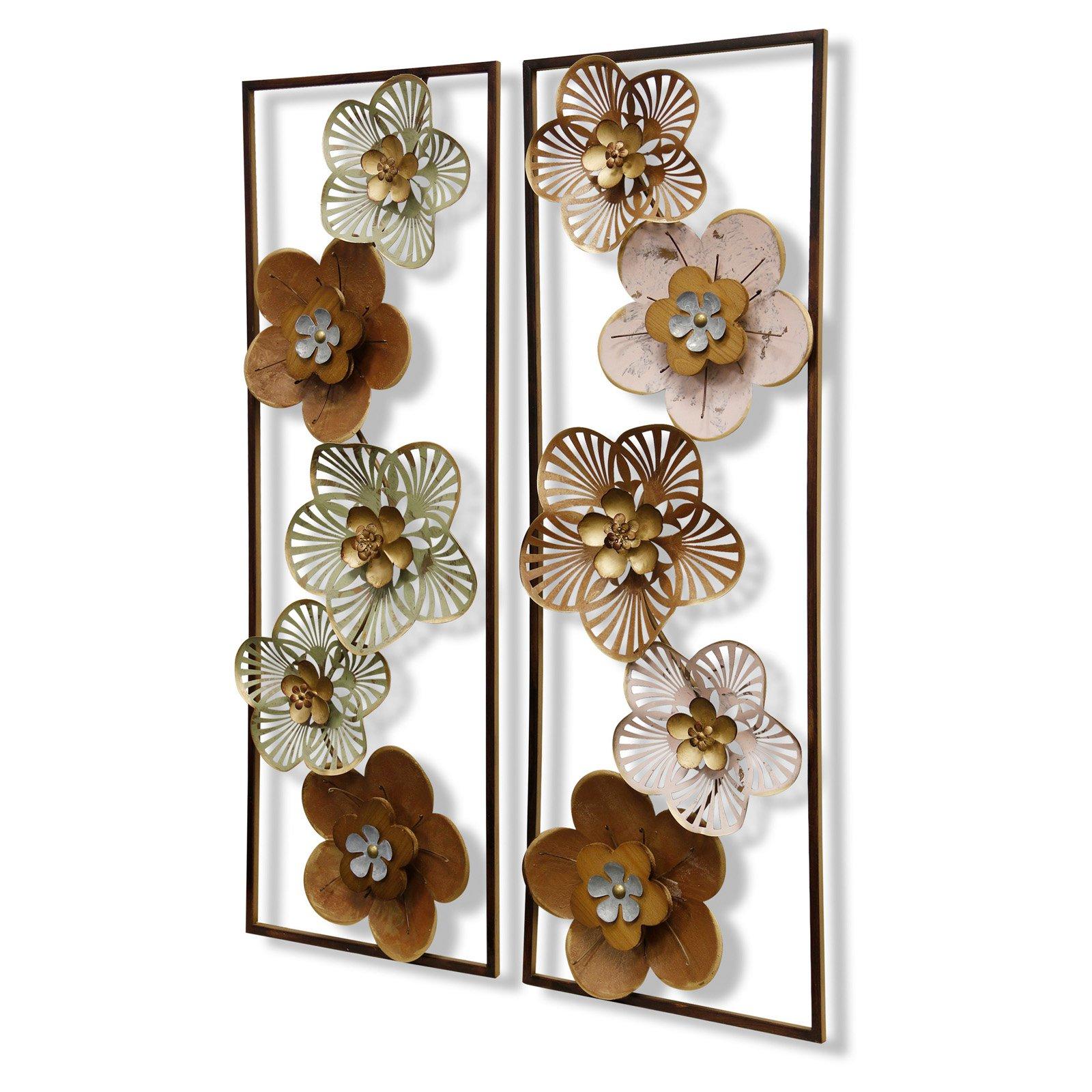 Stylecraft Floral Design Wall Sculptures – Set Of  (View 18 of 20)