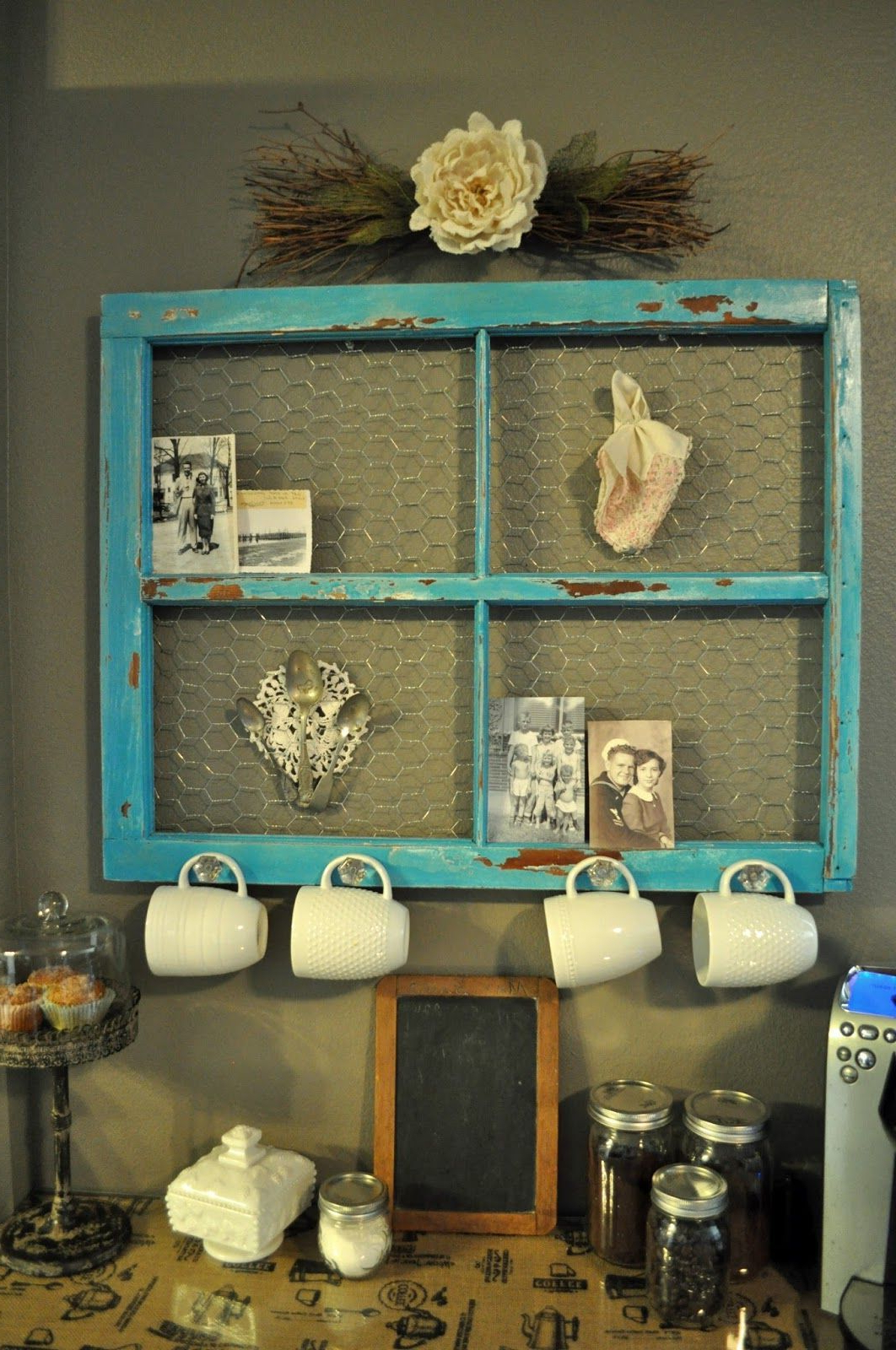 The Best Repurposed Old Throughout Famous Old Rustic Barn Window Frame (Gallery 20 of 20)