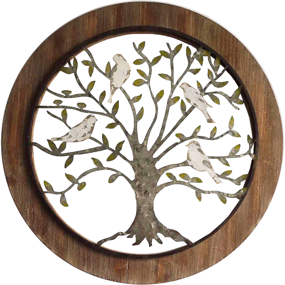 Tree Of Life Wall Decor Regarding Most Recently Released Galvanised Framed Tree Of Life Wall Decor (View 13 of 20)