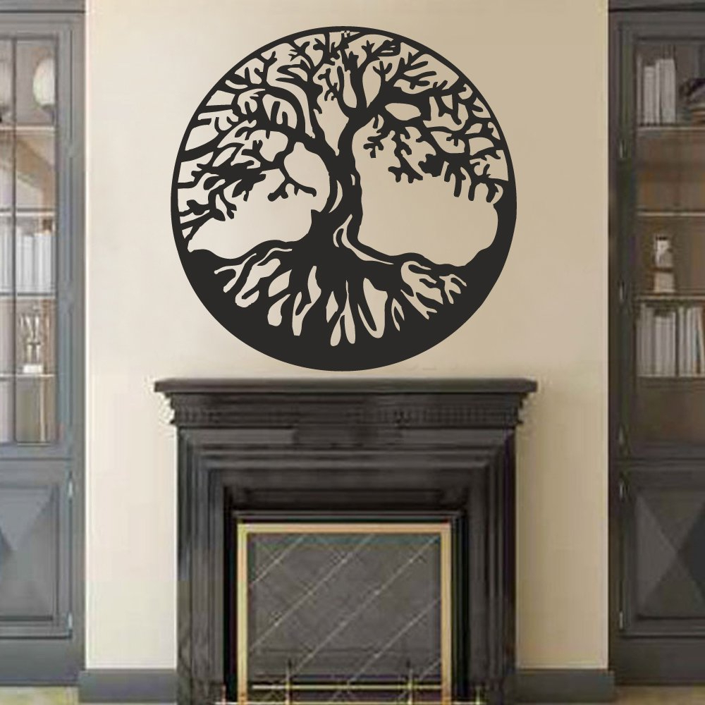 Tree Of Life Wall Decor Throughout Newest Amazon: Battoo Tree Of Life Vinyl Wall Decal Sticker – Celtic (Gallery 14 of 20)
