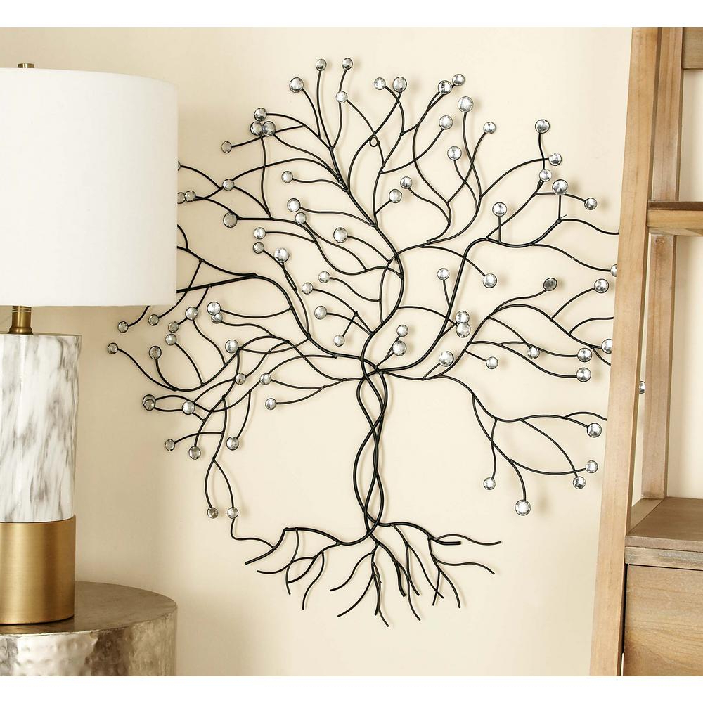 Tree Wall Decor With Fashionable Litton Lane 27 In. X 27 In (View 16 of 20)