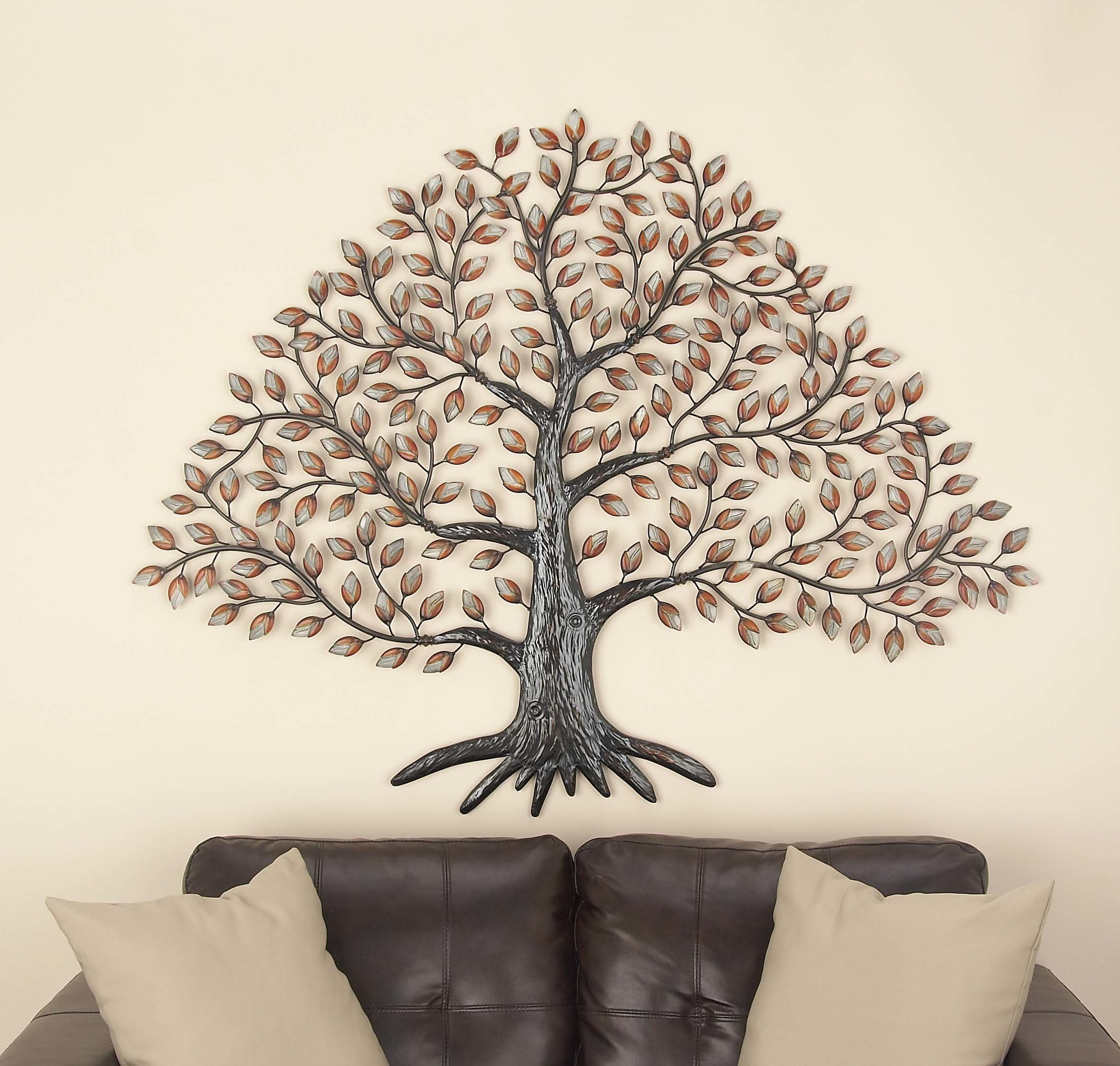 Tree Wall Decor With Regard To Most Popular Cole & Grey Metal Tree Wall Décor & Reviews (View 17 of 20)