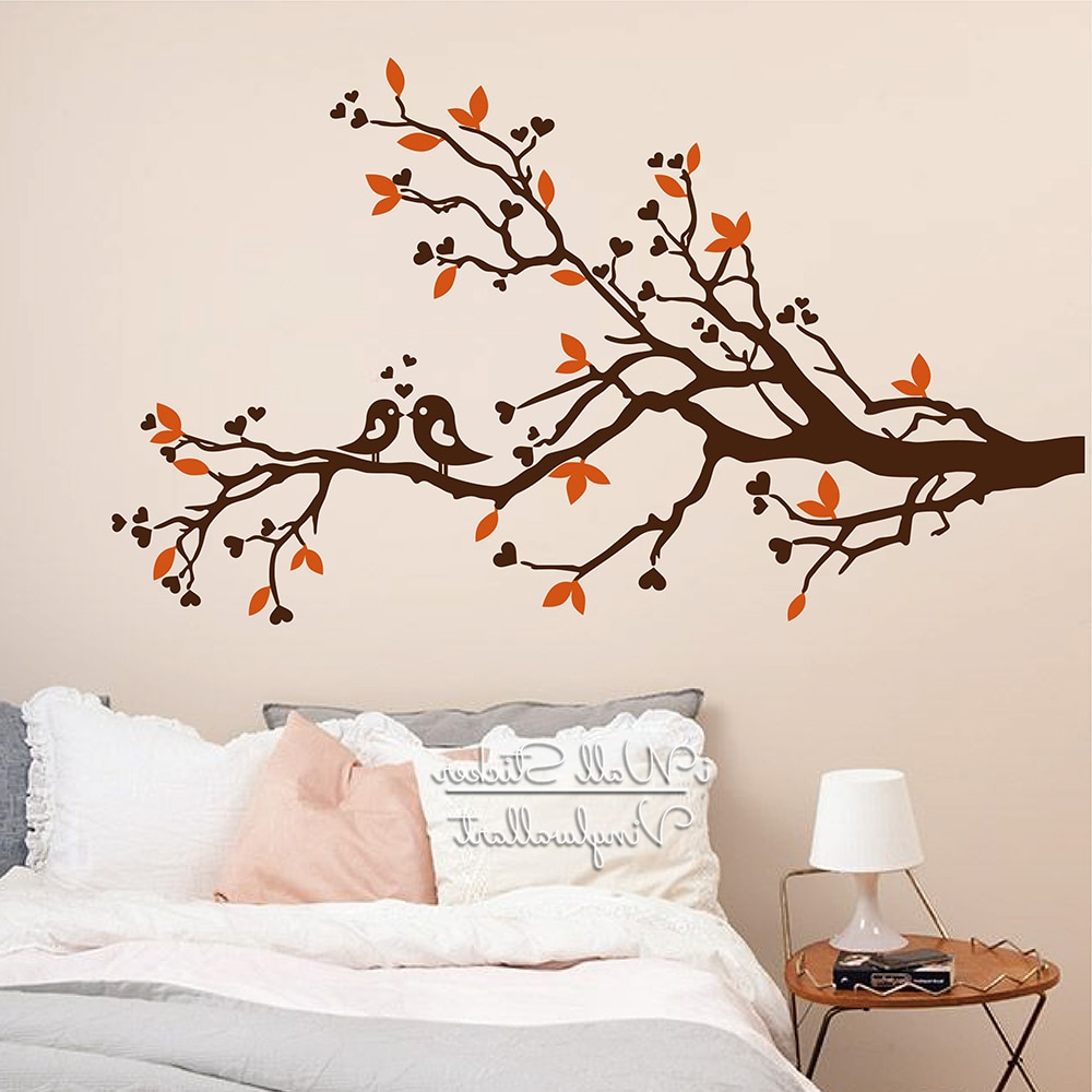 Tree Wall Sticker Baby Nursery Tree Birds Wall Decal Diy Tree Branch With Current Birds On A Branch Wall Decor (Gallery 7 of 20)
