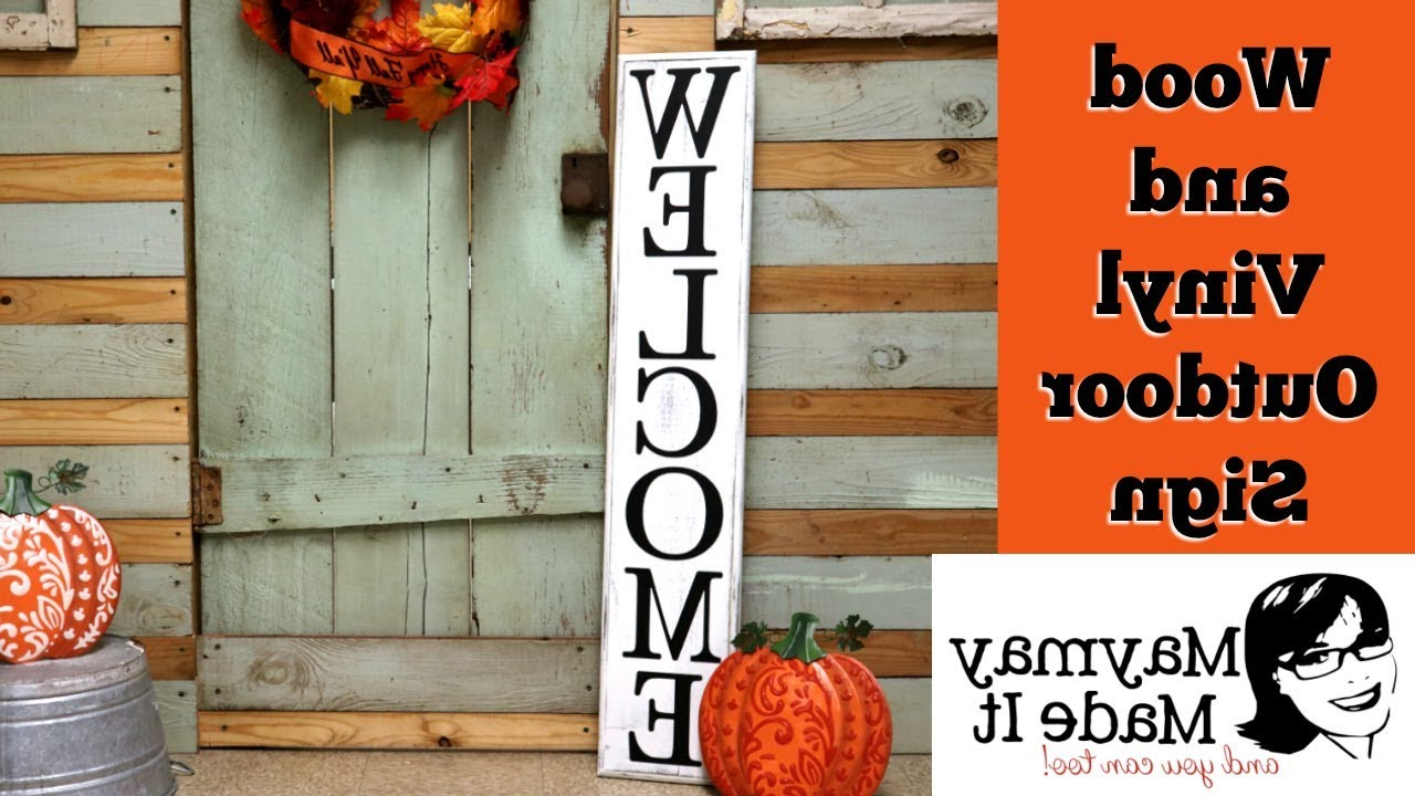 Tree Welcome Sign Wall Decor With Regard To Most Popular Wood And Vinyl Welcome Sign Using Cricut – Youtube (View 17 of 20)