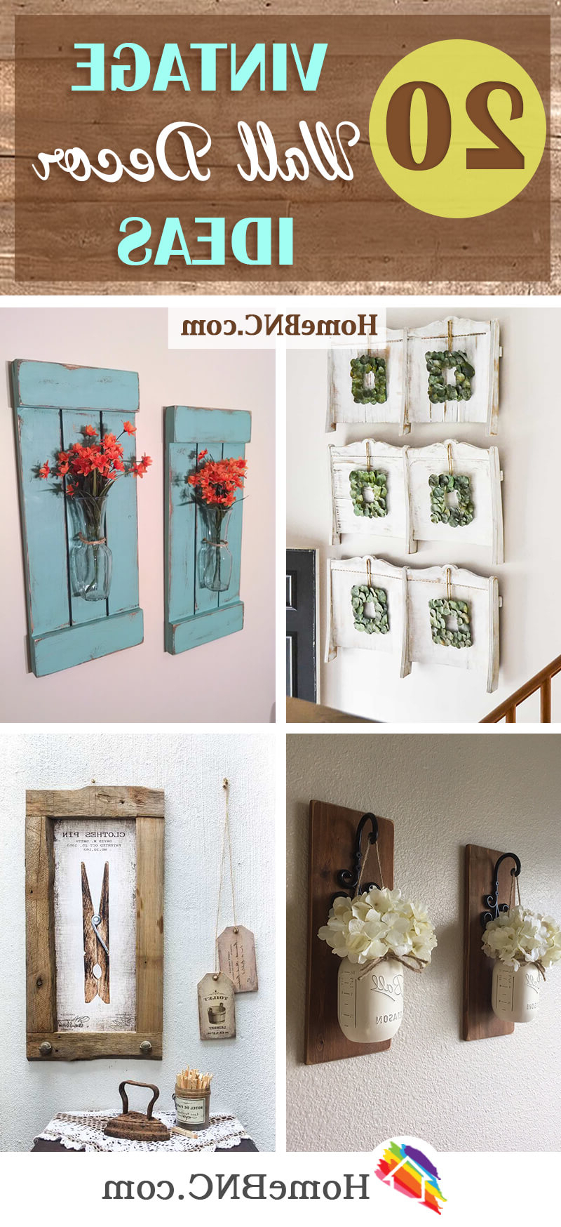 Trendy 2 Piece Heart Shaped Fan Wall Decor Sets Inside 20 Best Vintage Wall Decor Ideas And Designs For (View 19 of 20)