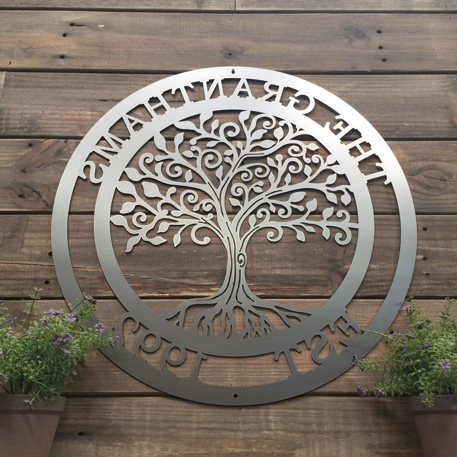 Trendy Olive/gray Metal Wall Decor Within Loving Tree Of Life Wall Art (View 19 of 20)