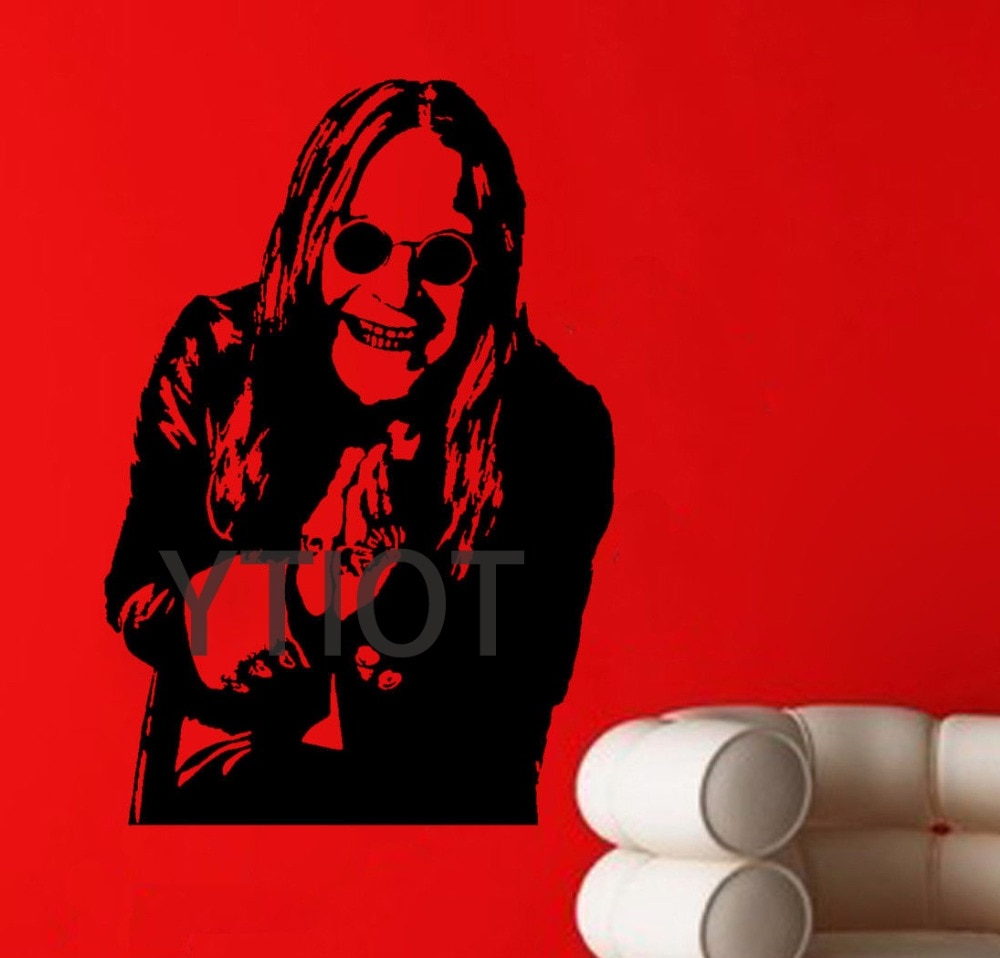 Trendy Ozzy Osbourne Wall Poster Sticker Heavy Metal Singer Vinyl Decal Intended For Osbourne Wall Decor (View 19 of 20)