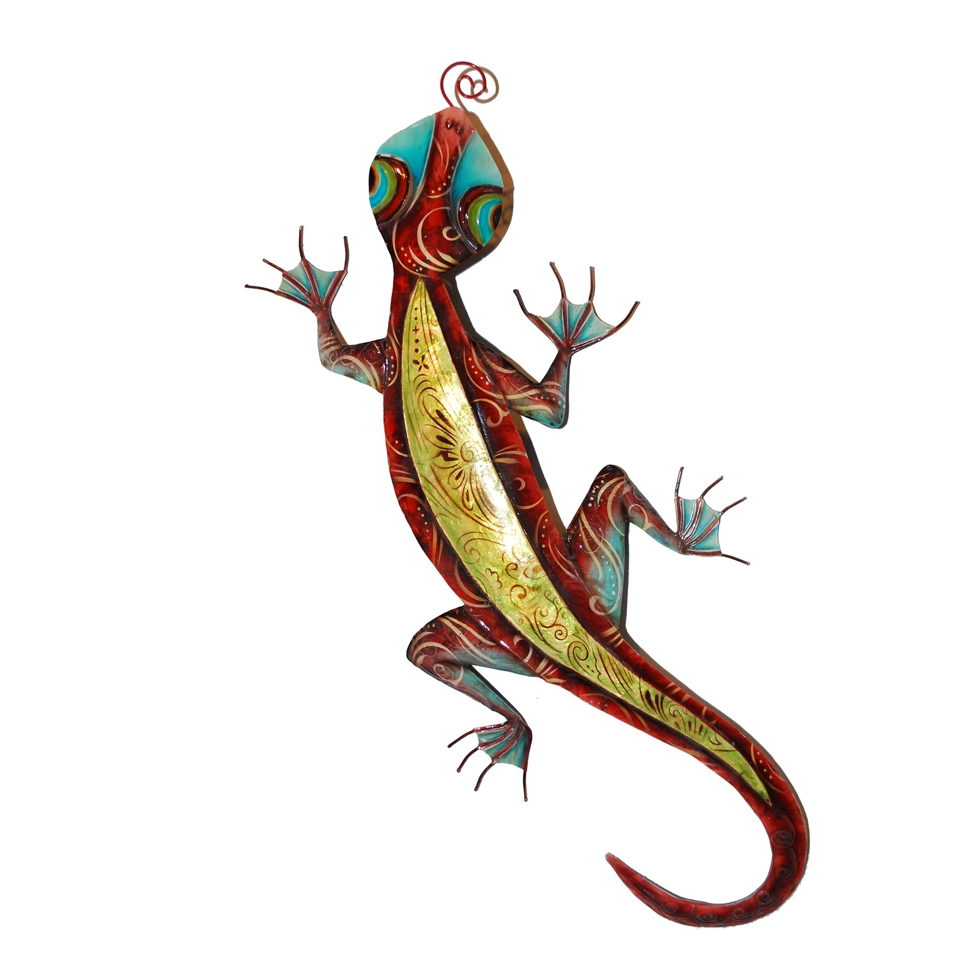 Trendy Shop Handmade Gecko Wall Decor Red And Yellow – Free Shipping On Regarding Gecko Wall Decor (Gallery 13 of 20)