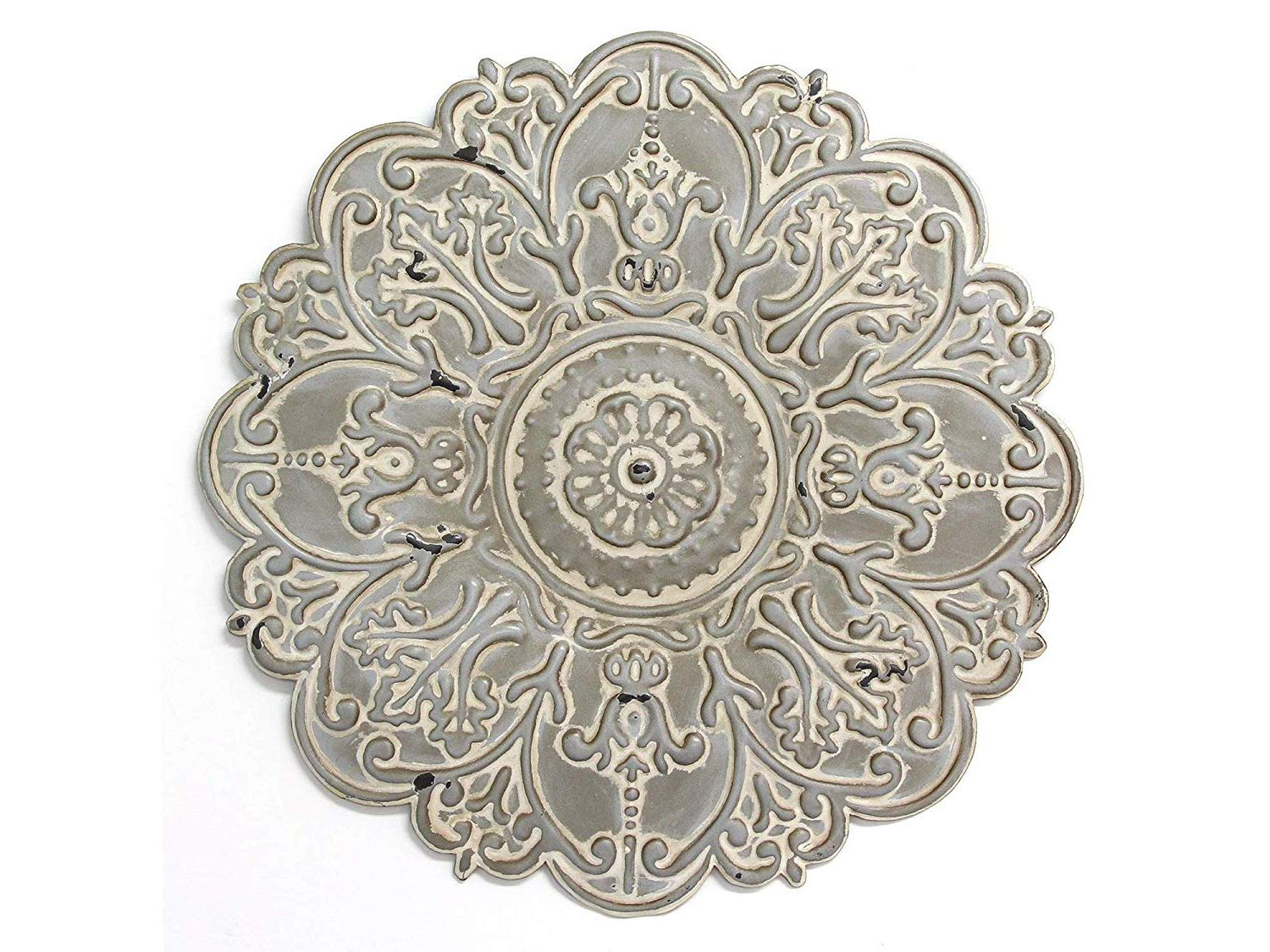 Trendy Small Medallion Wall Decor Intended For Amazon: Strаttоn Hоmе Dеcоr Home Decor Décor S11565 Small (View 18 of 20)