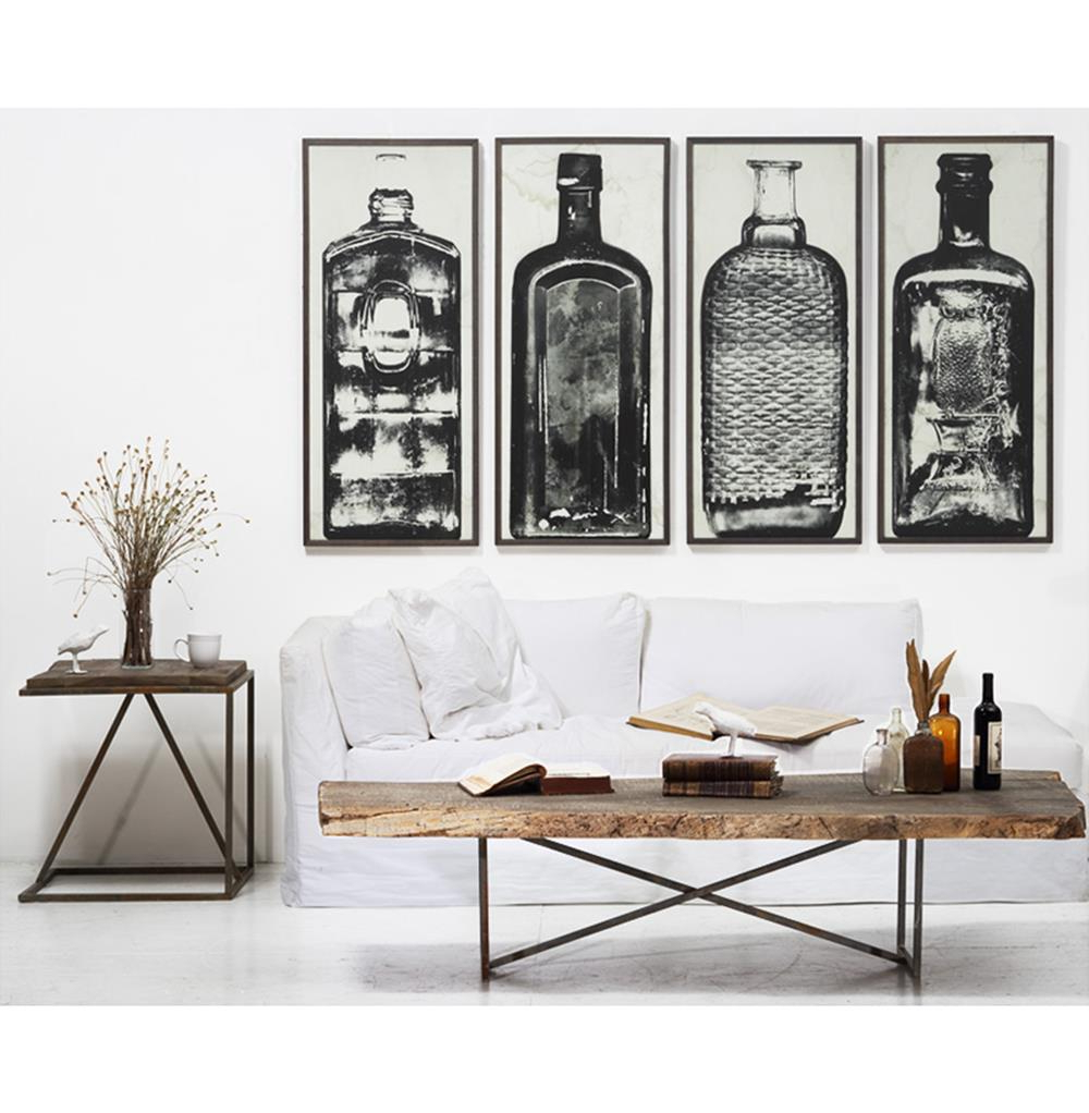 Wall Art Designs Industrial Bottle Sculpture Home Prints Framed For Most Up To Date Large Modern Industrial Wall Decor (Gallery 3 of 20)