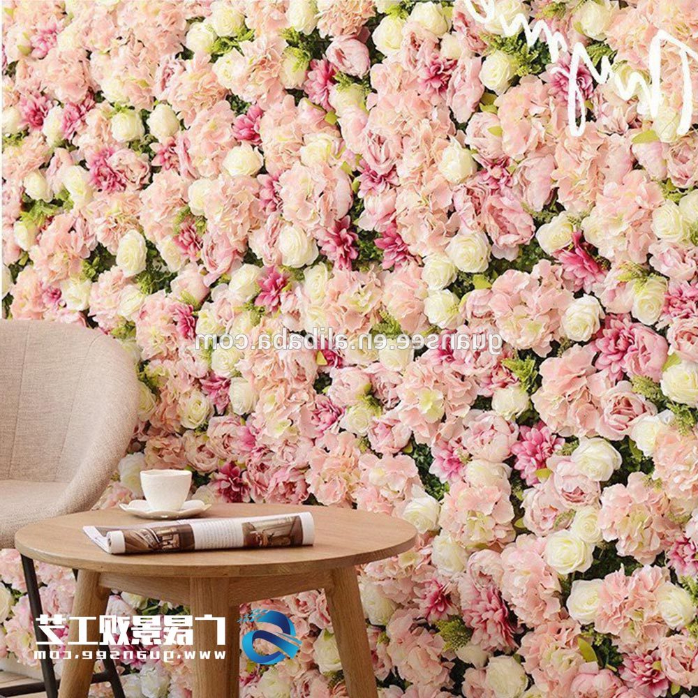 Wall Decor Wholesale Synthetic Artificial Flowers Wall Fake Plant In Trendy Flower Wall Decor (View 17 of 20)