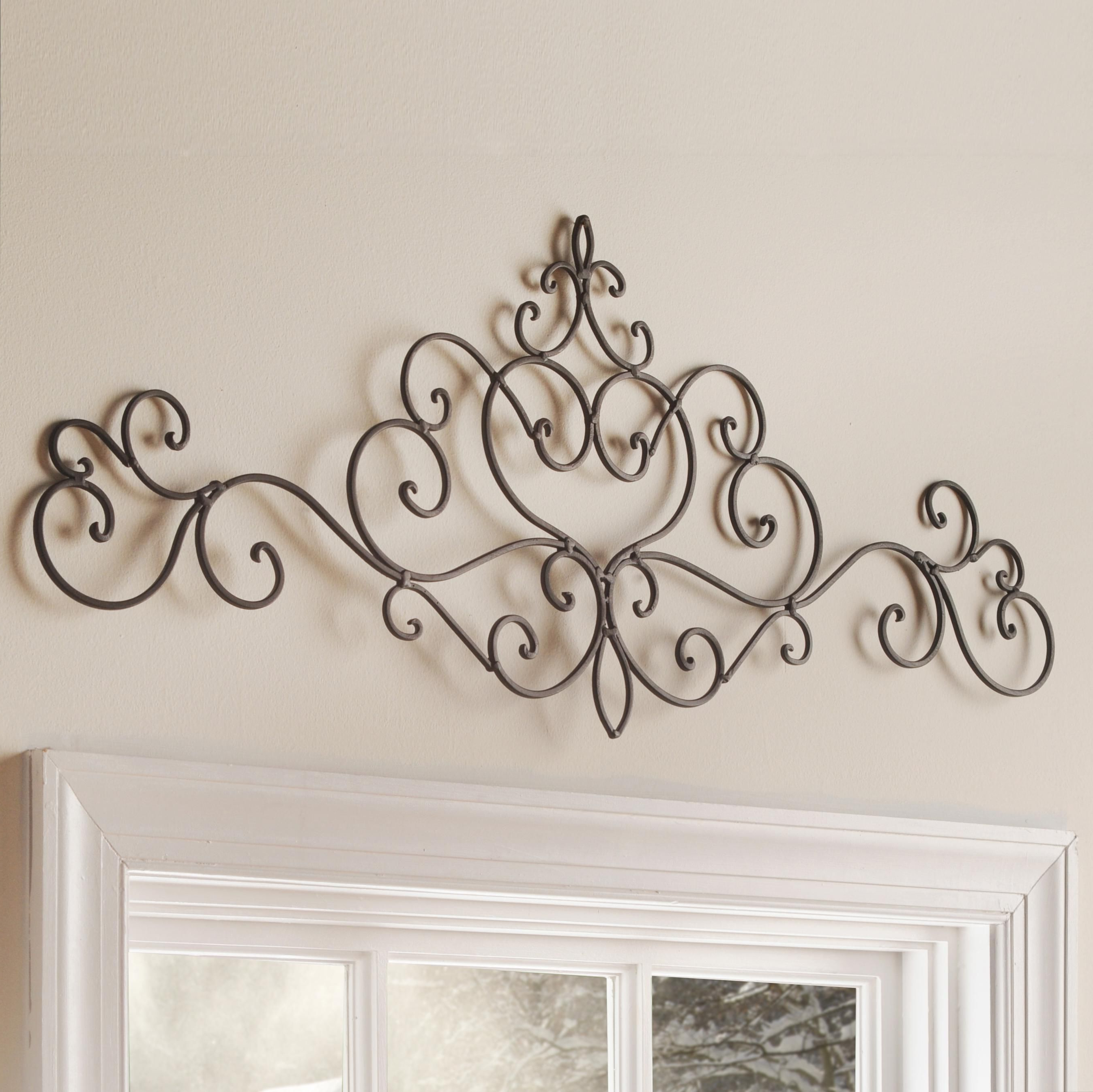 Wall Decor Within Ornamental Wood And Metal Scroll Wall Decor (Gallery 4 of 20)