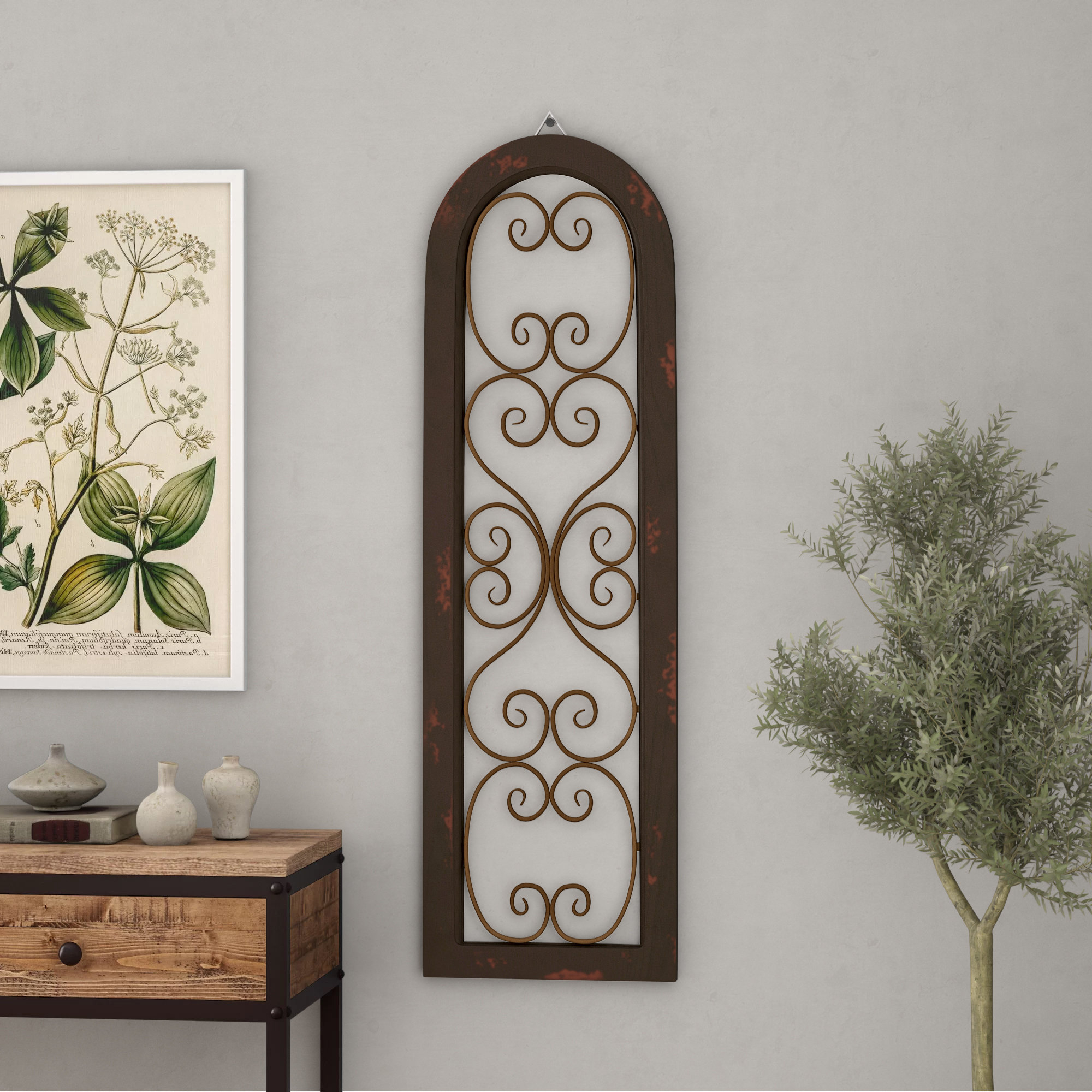 Featured Photo of Brown Wood And Metal Wall Decor