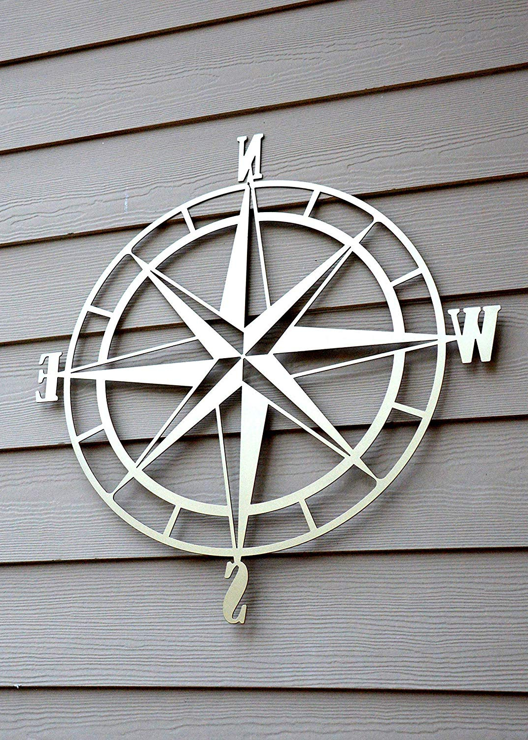 Well Known Amazon: Nautical Compass Rose Metal Wall Art: Handmade For Outdoor Metal Wall Compass (View 19 of 20)