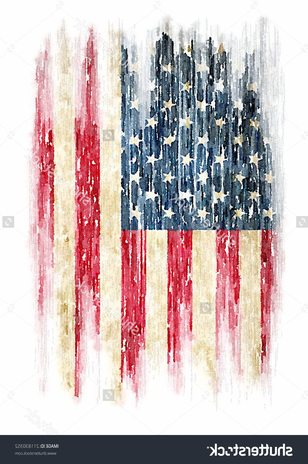 Well Known American Pride 3D Wall Decor Pertaining To T Shirt Graphics / Vintage Watercolor Of American Flag, Photo (Gallery 11 of 20)