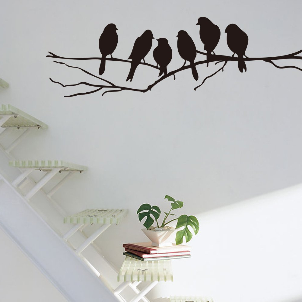 Well Known Birds On A Wire Wall Decor Inside Mercurymall®Birds On A Wire Wall Stickers Birds Wall Stickers Quote (Gallery 19 of 20)