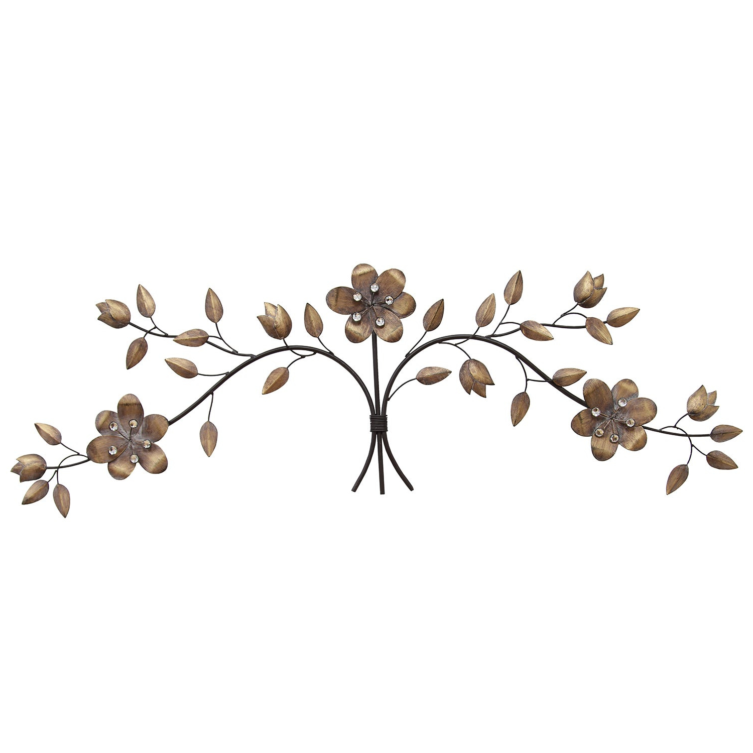 Well Known Brushed Pearl Over The Door Wall Decor Pertaining To Shop Stratton Home Decor Floral Bouquet Over The Door Wall Decor (View 16 of 20)