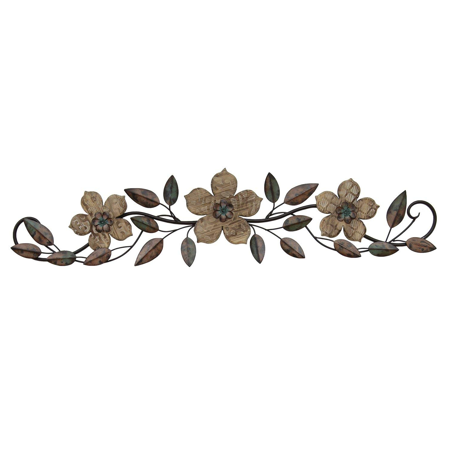 Well Known Floral Patterned Over The Door Wall Decor Within Amazon: Stratton Home Décor Stratton Home S01207 Floral (Gallery 2 of 20)