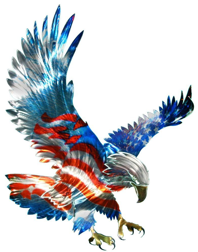 Well Known New Large American Flag & Bald Eagle Metal Wall Art Patriotic Decor With American Pride 3D Wall Decor (Gallery 7 of 20)