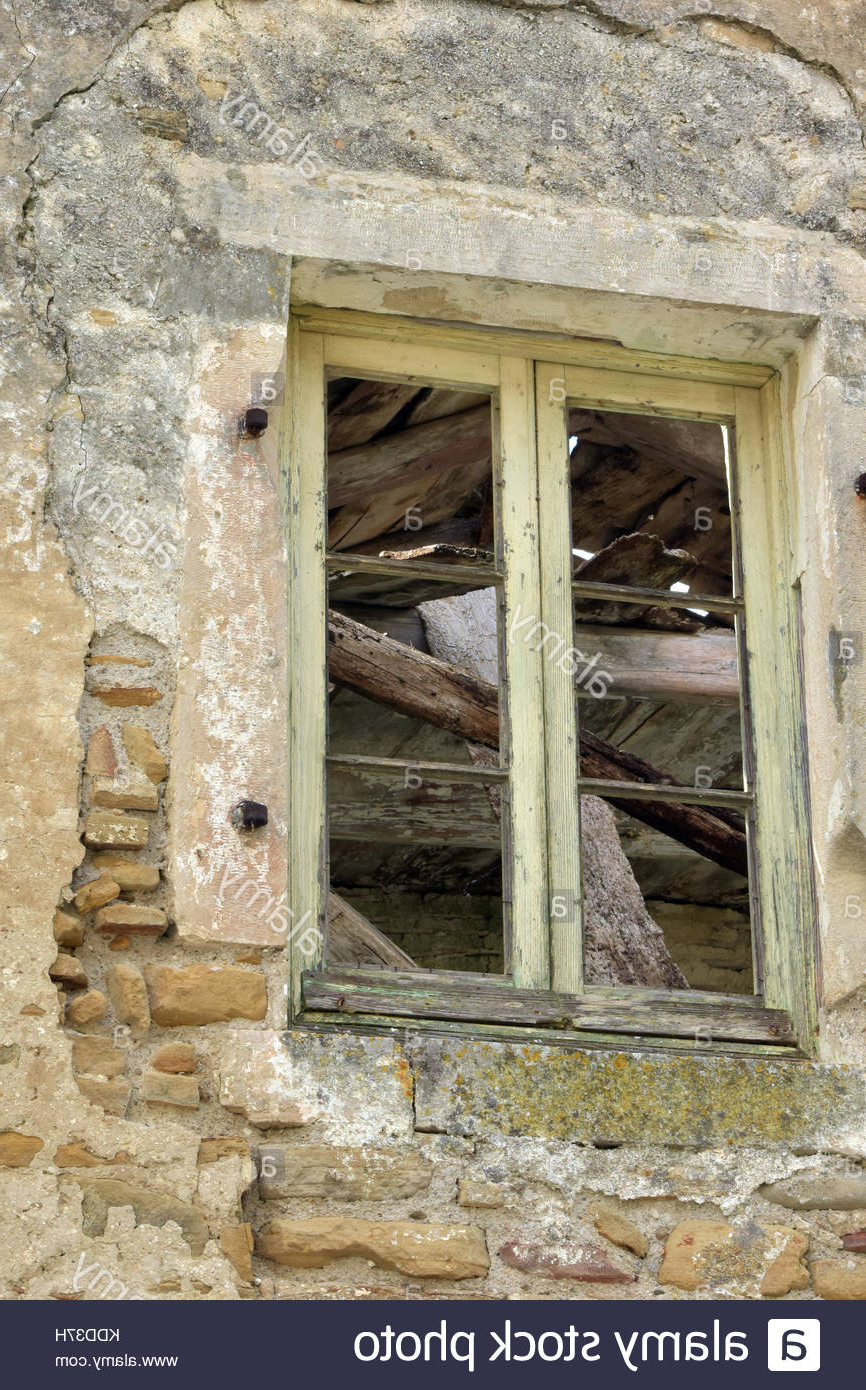 Well Known Old Rustic Barn Window Frame Regarding An Old Window Frame With Stone Lintel On A Derelict Barn Or Farm (Gallery 6 of 20)