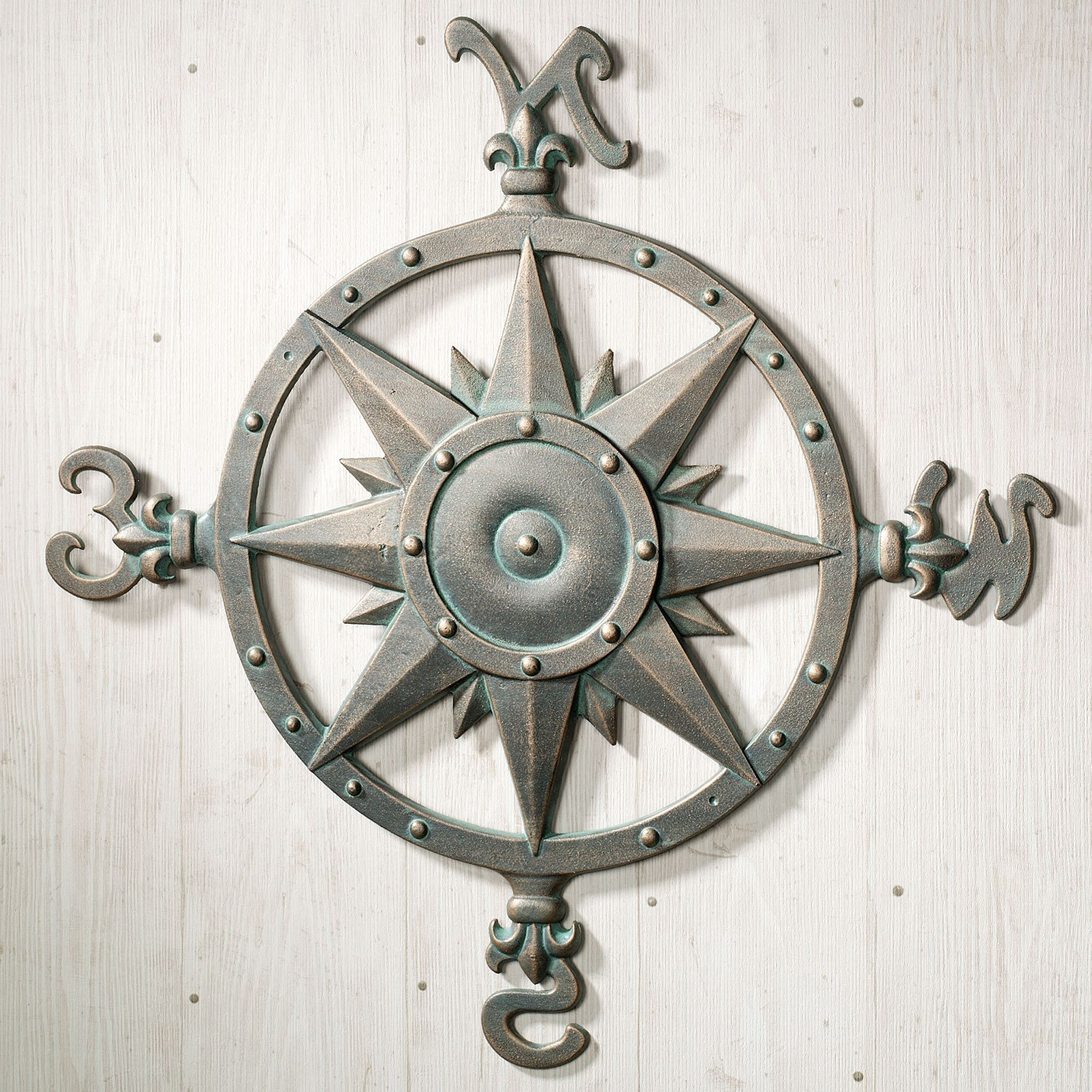 Well Known Round Compass Wall Decor For Indoor Outdoor Nautical Compass Metal Wall Art (View 18 of 20)