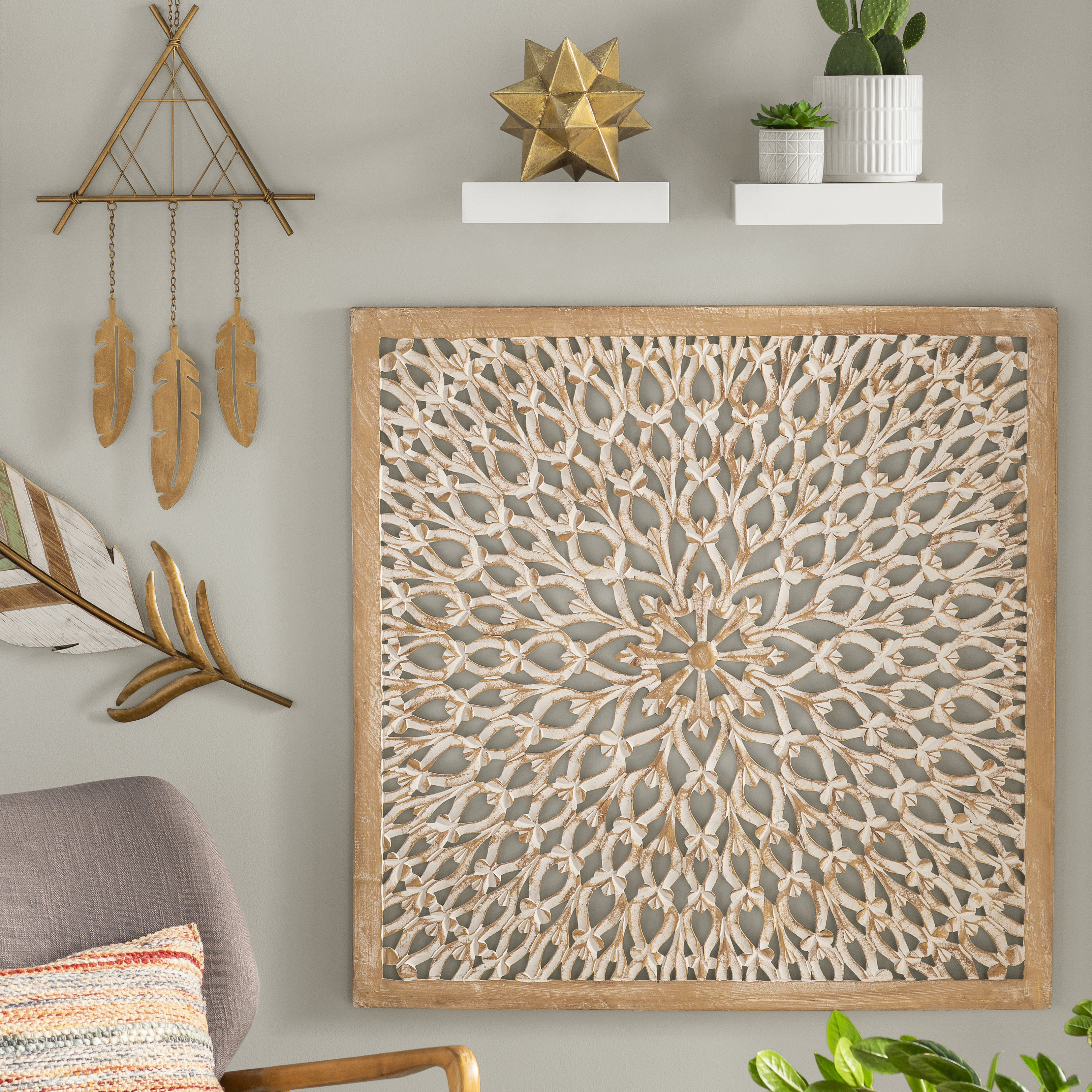 Well Liked 2 Piece Panel Wood Wall Decor Sets (Set Of 2) Throughout Wall Decor (Gallery 11 of 20)