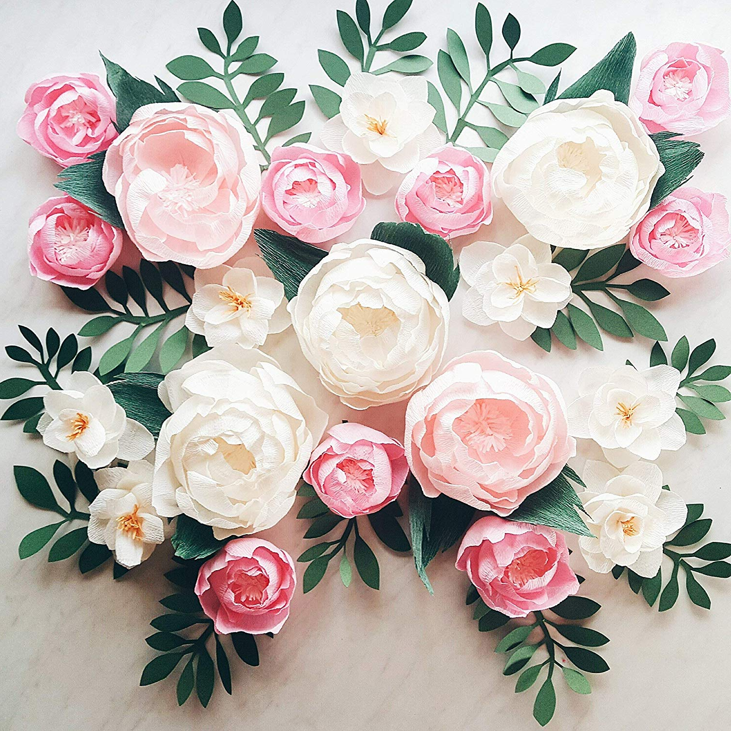Well Liked Amazon: Paper Flower Wall Display. Girl Nursery Wall Decor Intended For Flower Wall Decor (Gallery 12 of 20)