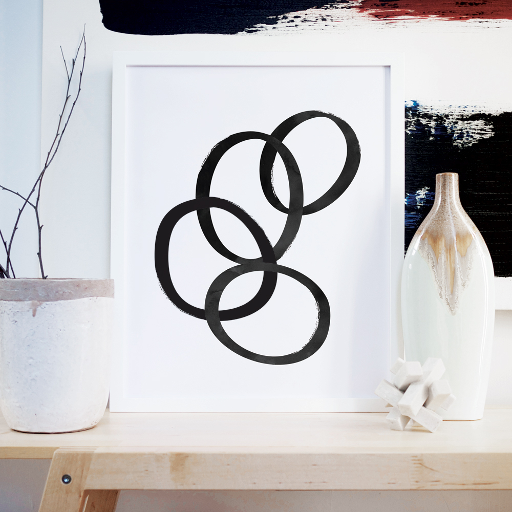 Well Liked Rings Wall Art – Shop Abstract Home Décor Inside Rings Wall Decor (Gallery 9 of 20)
