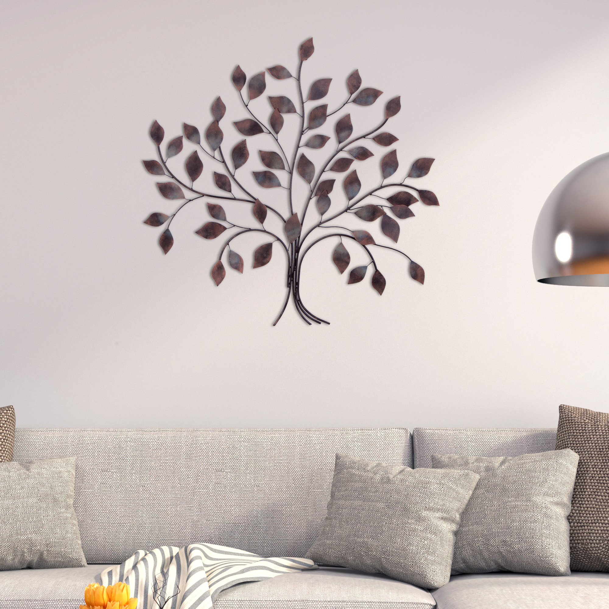Well Liked Tree Wall Decor Inside Patton Wall Decor Bronze Tree Branch Decorative Metal Wall Décor (View 19 of 20)