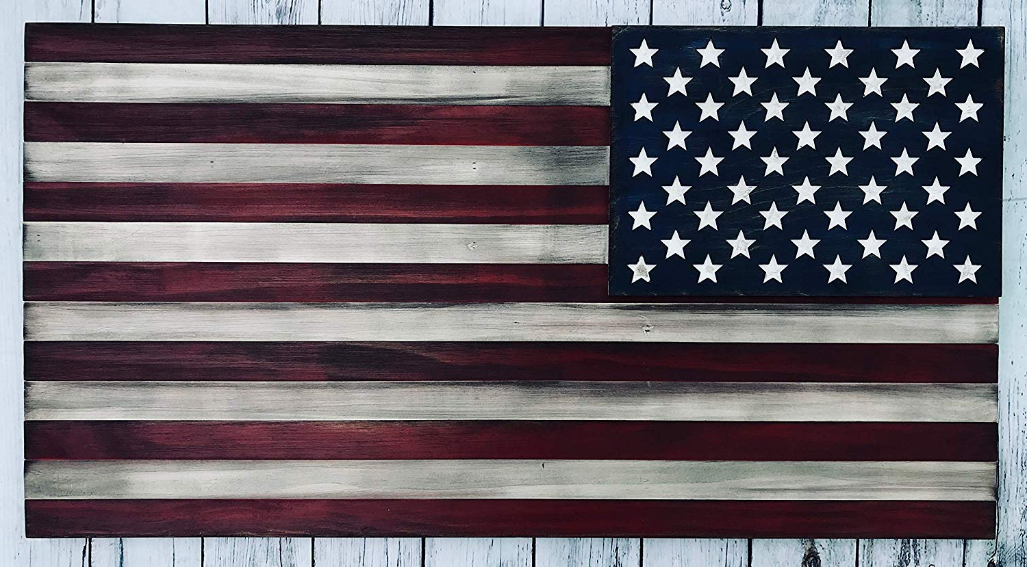 Widely Used American Flag 3D Wall Decor In Amazon: Usa Wooden Flag, Wooden American Flag Wall Decor (View 19 of 20)