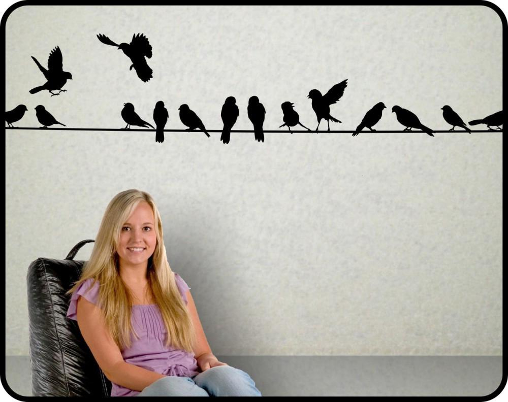 Widely Used Birds On A Wire Wall Decor With Regard To New 2015 Birds On A Wire Wall Decal Vinyl Wall Sticker Home Decor (Gallery 9 of 20)