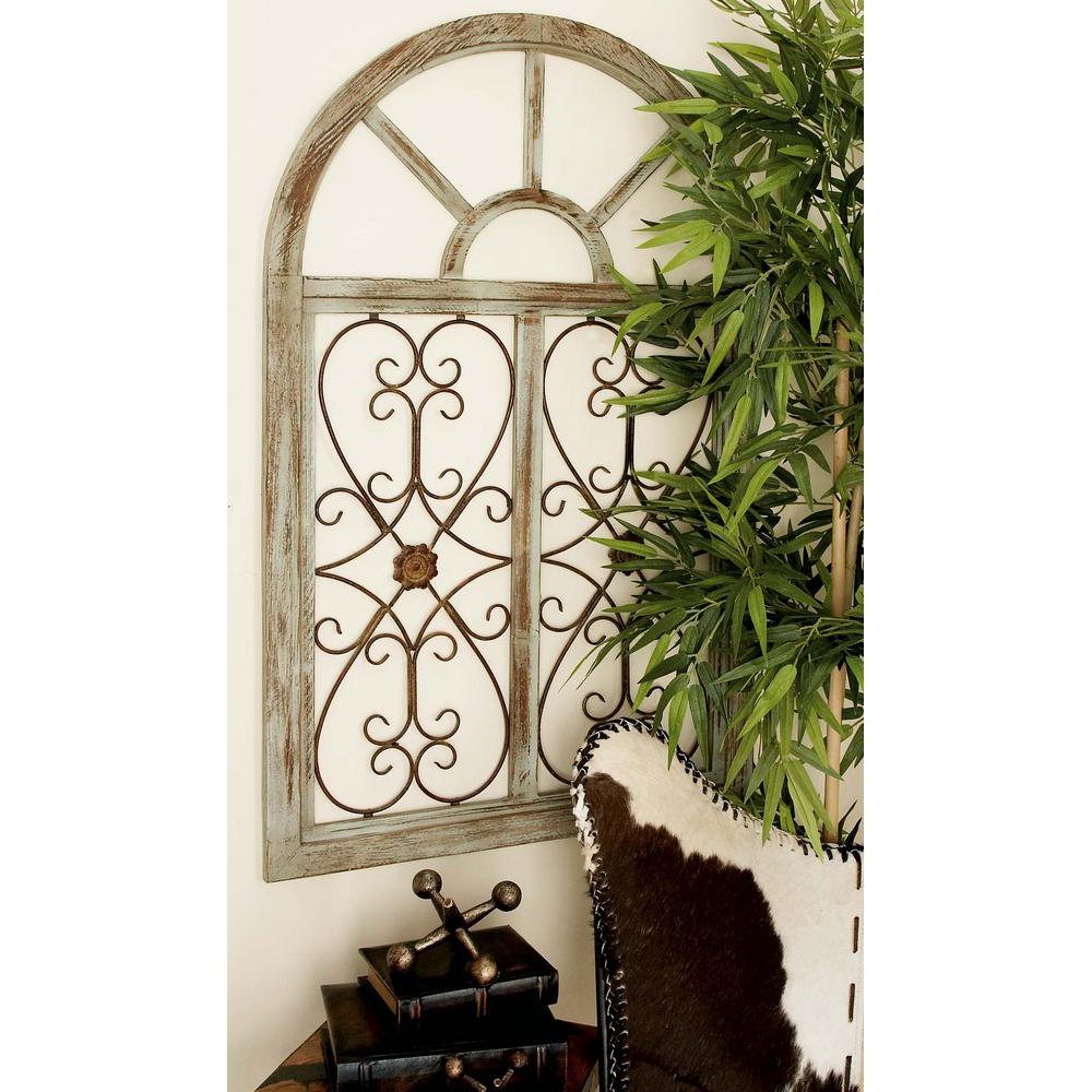 Widely Used Brown Wood And Metal Wall Decor With Regard To Litton Lane 29 In. X 46 In (View 4 of 20)