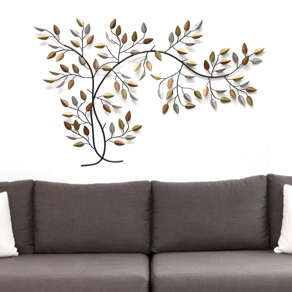 Widely Used Flowing Leaves Wall Decor Regarding Stratton Home Decor Tree Branch Wall Decor Shd0012 – The Home Depot (View 20 of 20)
