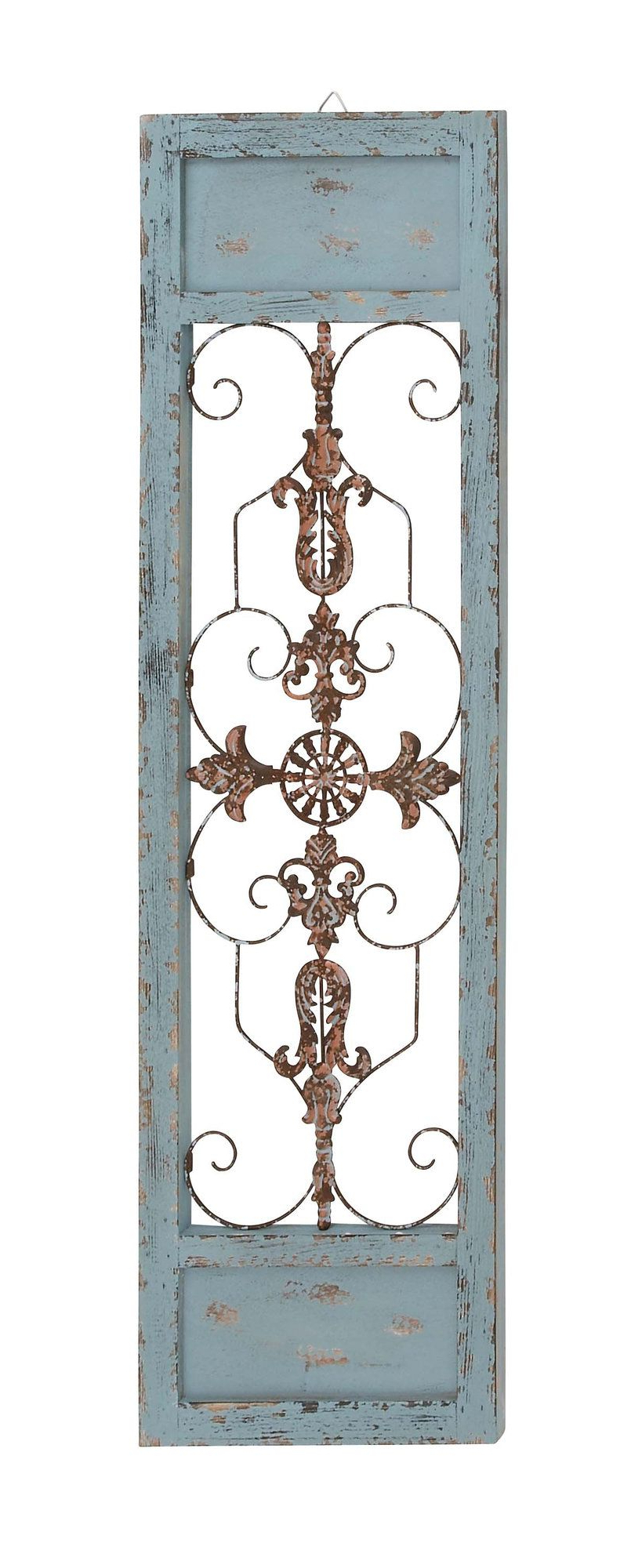 Featured Photo of Ornamental Wood And Metal Scroll Wall Decor