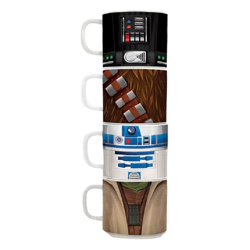 Widely Used Shop Star Wars 4pc Stacking Ceramic Mug Set – Free Shipping On Pertaining To Decorative Three Stacked Coffee Tea Cups Iron Widget Wall Decor (View 17 of 20)