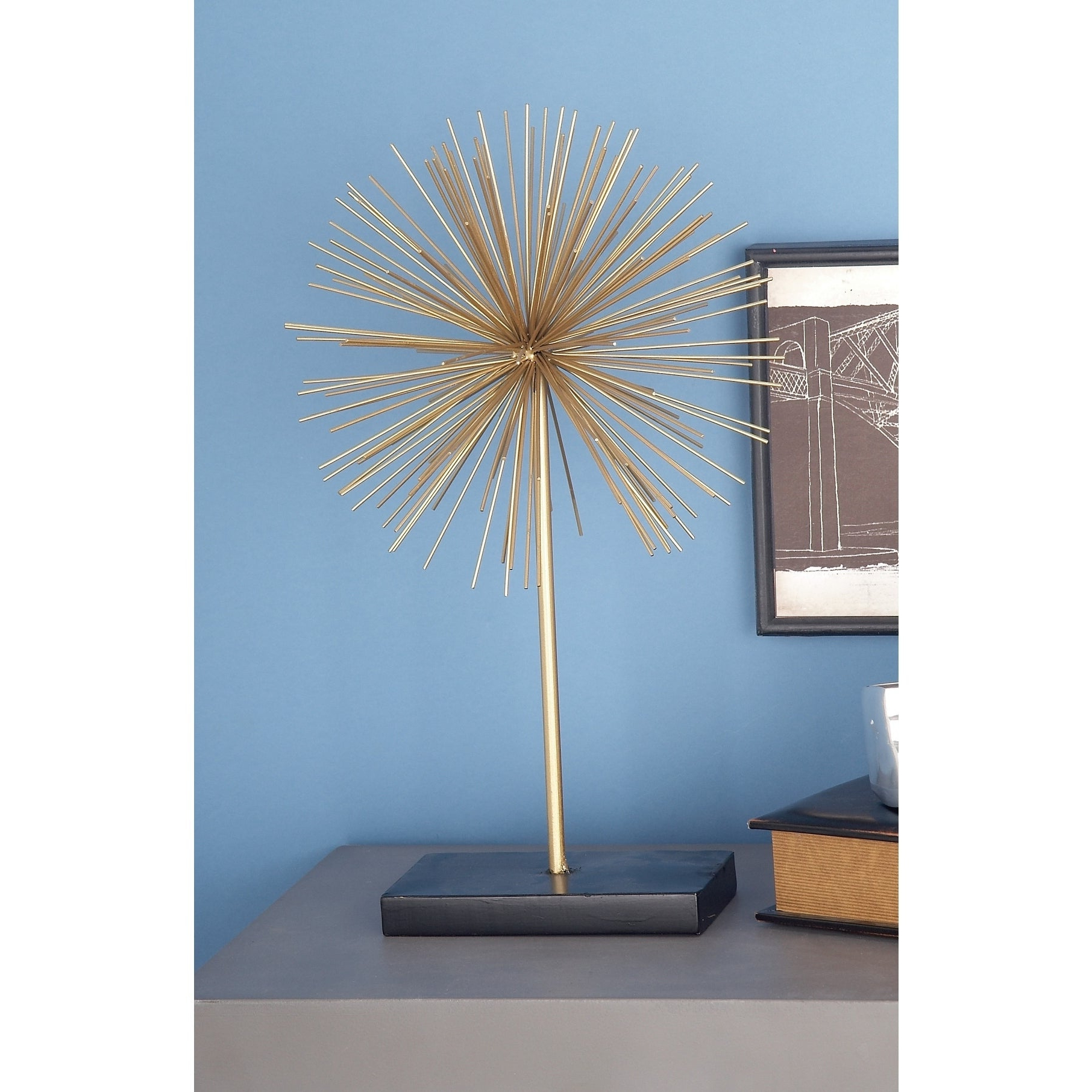 Widely Used Shop Tall Contemporary Style 3D Round Gold Metal Starburst Regarding Set Of 3 Contemporary 6, 9, And 11 Inch Gold Tin Starburst Sculptures (View 20 of 20)