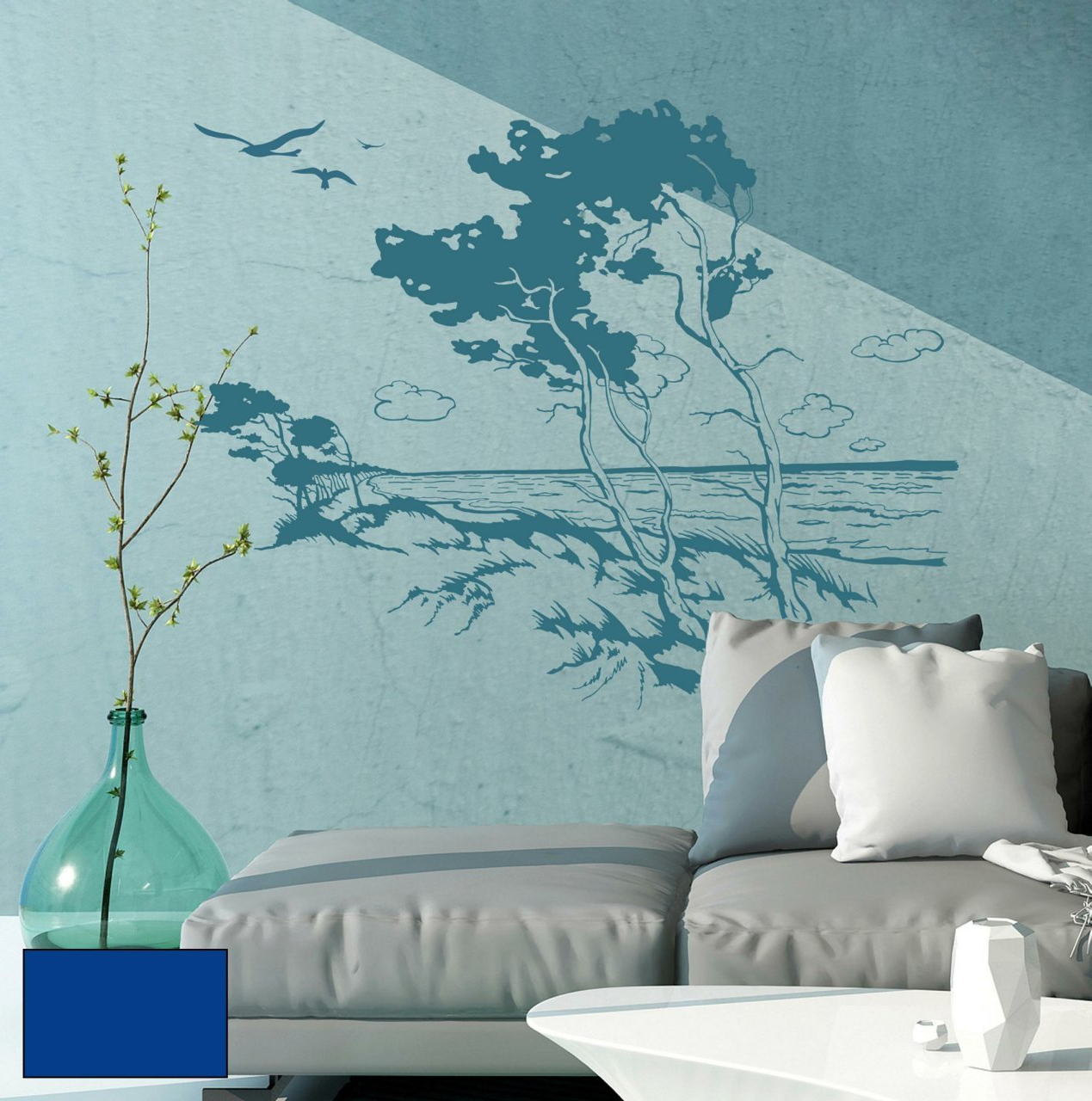 Windswept Tree Wall Decor In Recent Windswept Tree Wall Decal Wall Sticker Decoration Beach Sea Maritime (Gallery 7 of 20)