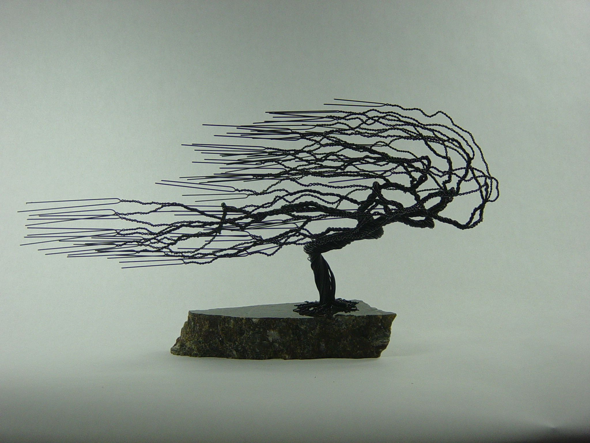 Windswept Tree Wall Decor In Well Known Buy A Hand Made Small Windswept Wire Bonsai Tree Sculpture, Made To (Gallery 20 of 20)