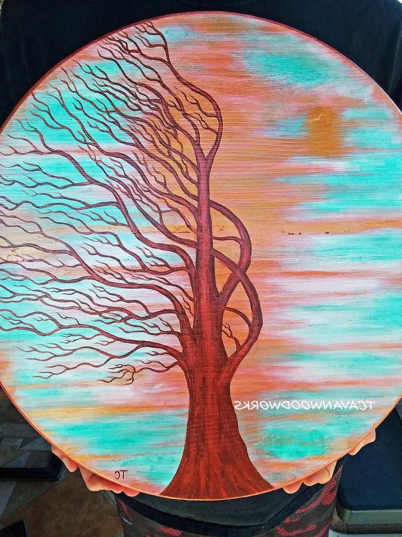 Windswept Tree Wall Decor With Regard To Most Recent Windswept Tree Painting Reserved For Jamie, Tree Painting On Wood (View 20 of 20)