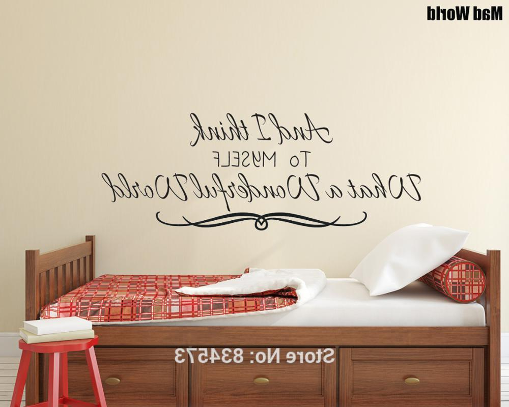 Wonderful World Wall Decor For Well Liked And I Think To Myself What A Wonderful World Wall Art Sticker Wall (View 7 of 20)