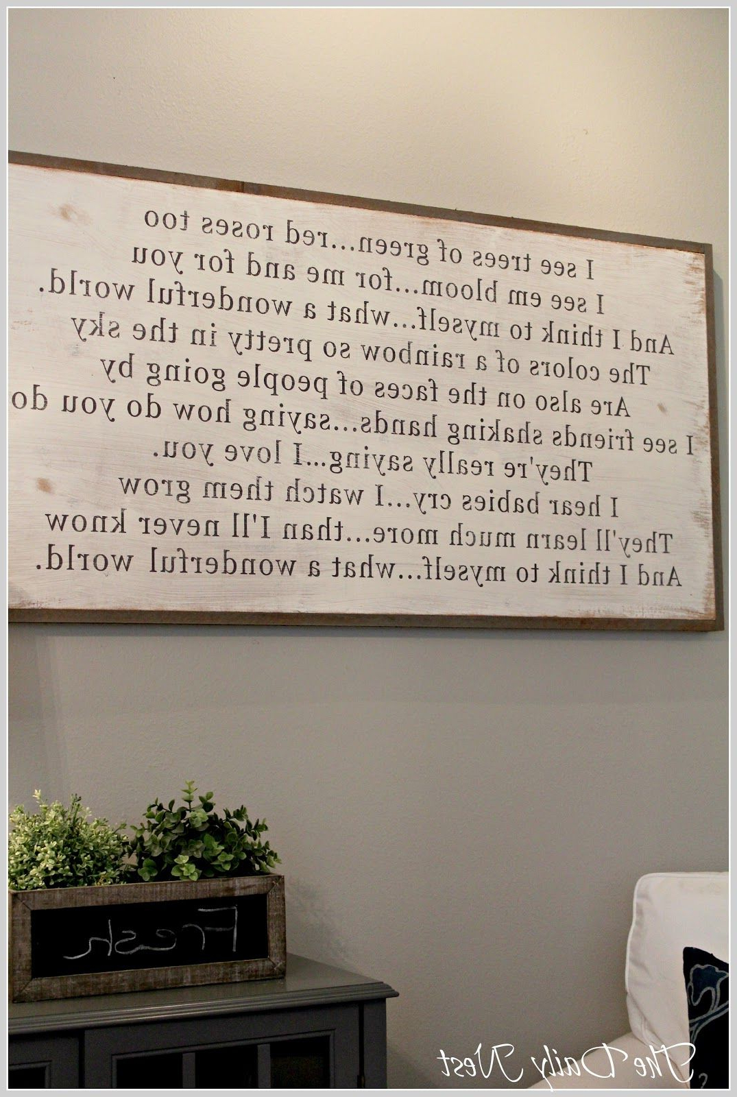 Wonderful World Wall Decor With Regard To Favorite The Daily Nest: What A Wonderful World Between You And Me Signs (Gallery 2 of 20)