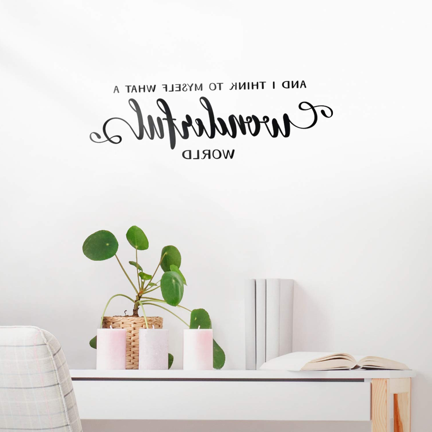 Wonderful World Wall Decor Within Well Known Amazon: Vinyl Wall Art Decal – And I Think To Myself What A (View 16 of 20)
