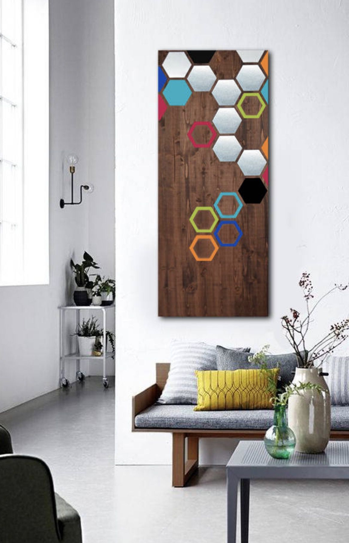 Wood Wall Art, Metal Wall Art, Modern Art Painting, Geometric Art Within Well Known Contemporary Geometric Wall Decor (View 4 of 20)