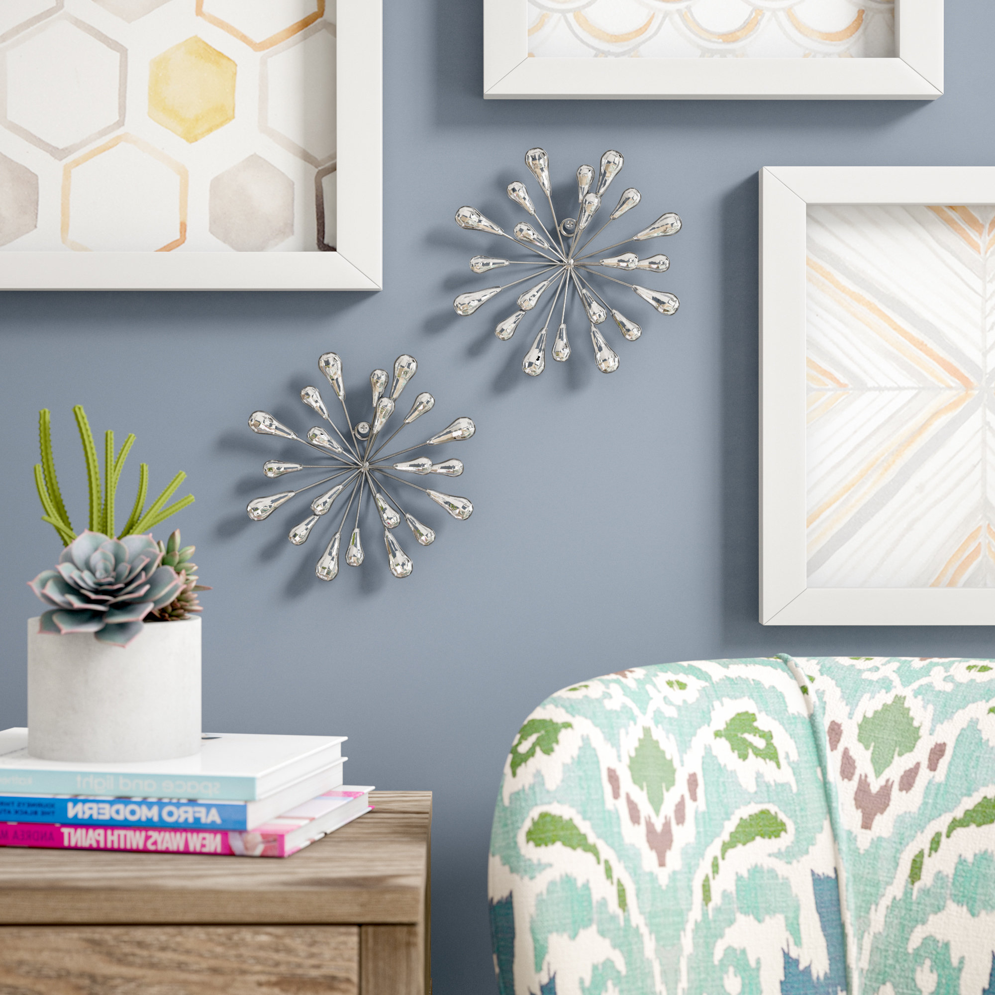 Wrought Studio 2 Piece Starburst Wall Décor Set & Reviews (Gallery 1 of 20)