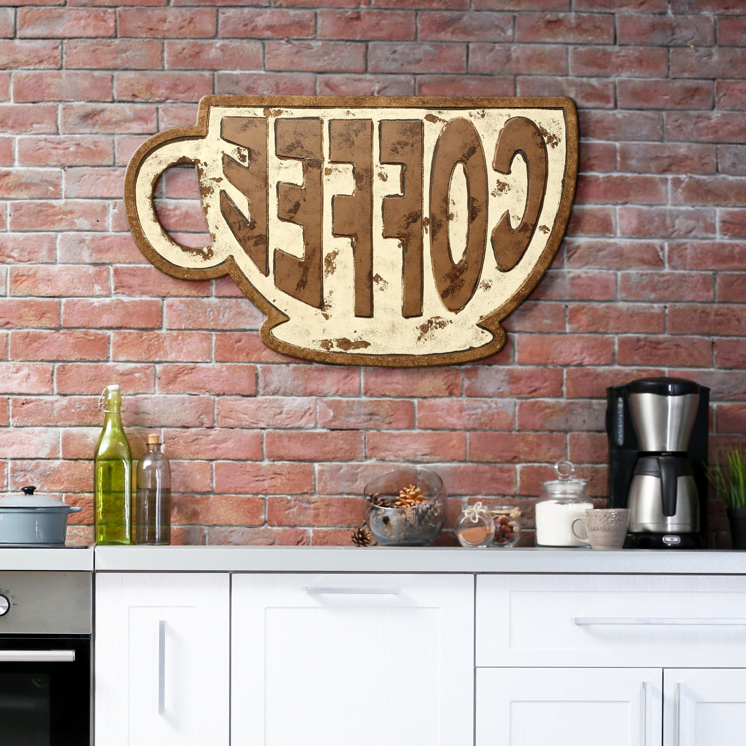 2019 Coffee Sign With Rebar Wall Decor Pertaining To Winston Porter Coffee Mug Sign Wall Décor (View 7 of 20)