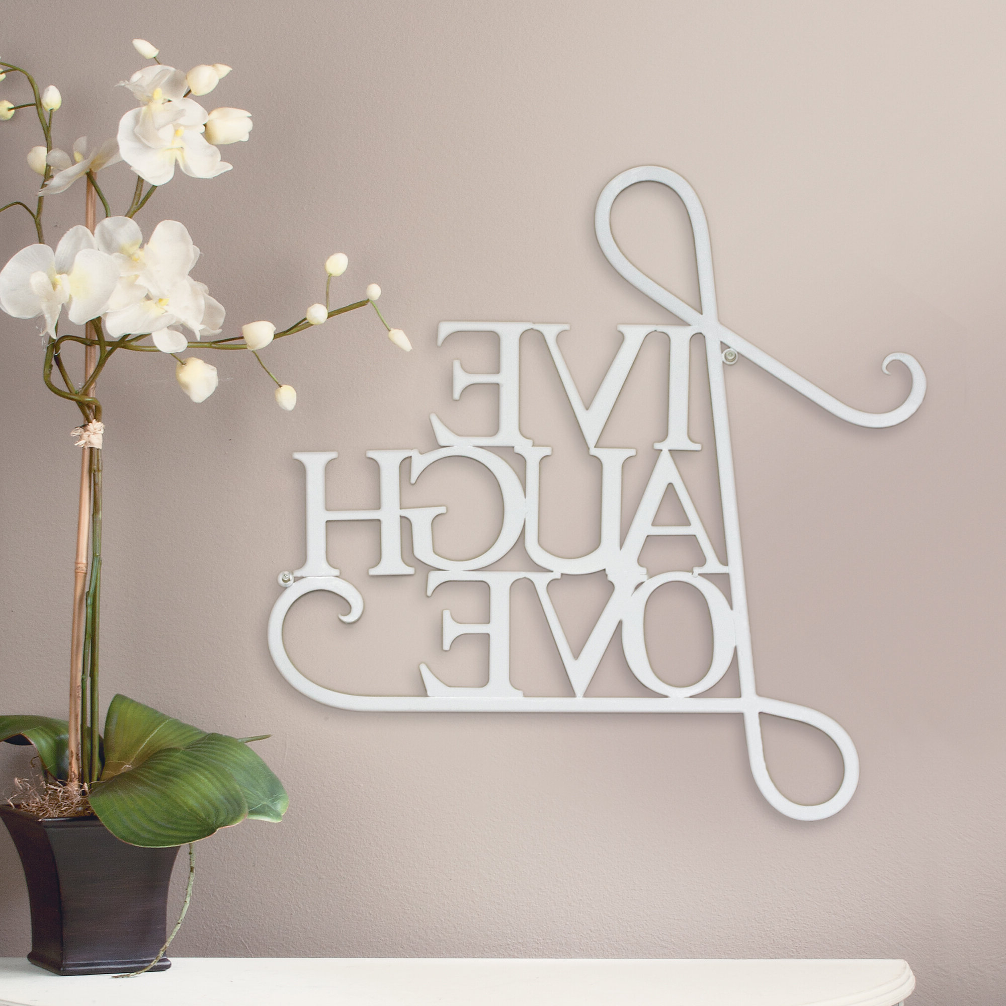 2019 Faith, Hope, Love Raised Sign Wall Decor By Winston Porter Intended For Winston Porter Live, Laugh, Love Antique Copper Wall Decor & Reviews (View 7 of 20)