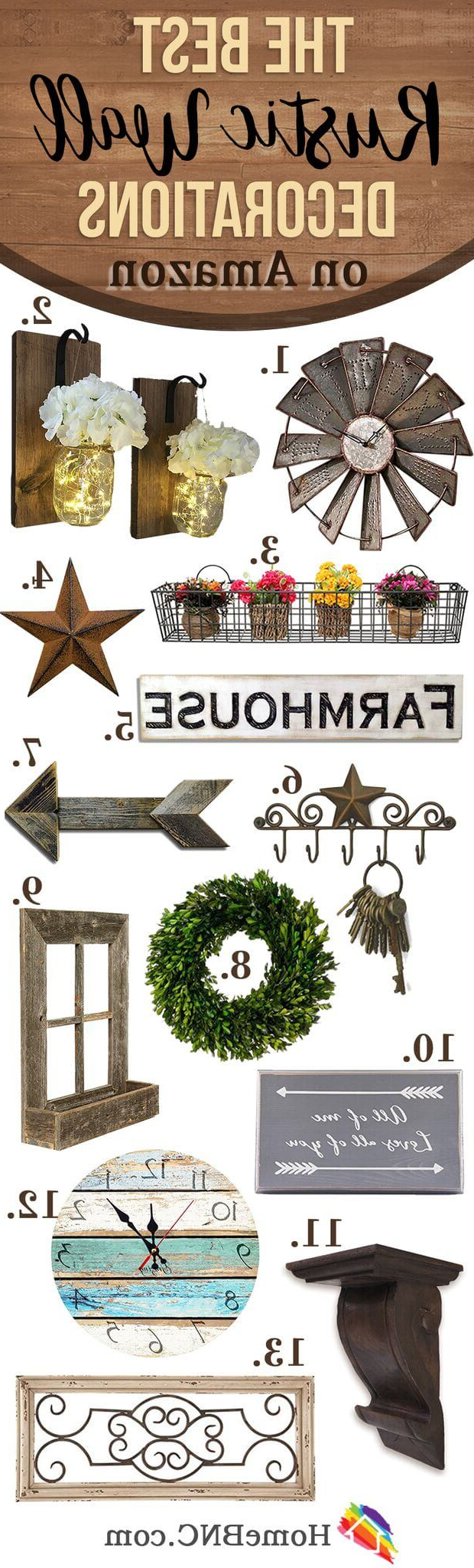 2019 Metal Universal Wall Decor In 33 Best Rustic Living Room Wall Decor Ideas And Designs For  (View 1 of 20)