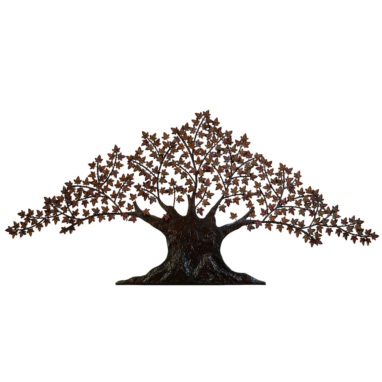 "2019 Wetherden Tree Wall Decor Inside Ec World Imports 92"" Urban Handcrafted Tree Of Life Large Metal Art (View 1 of 20)"