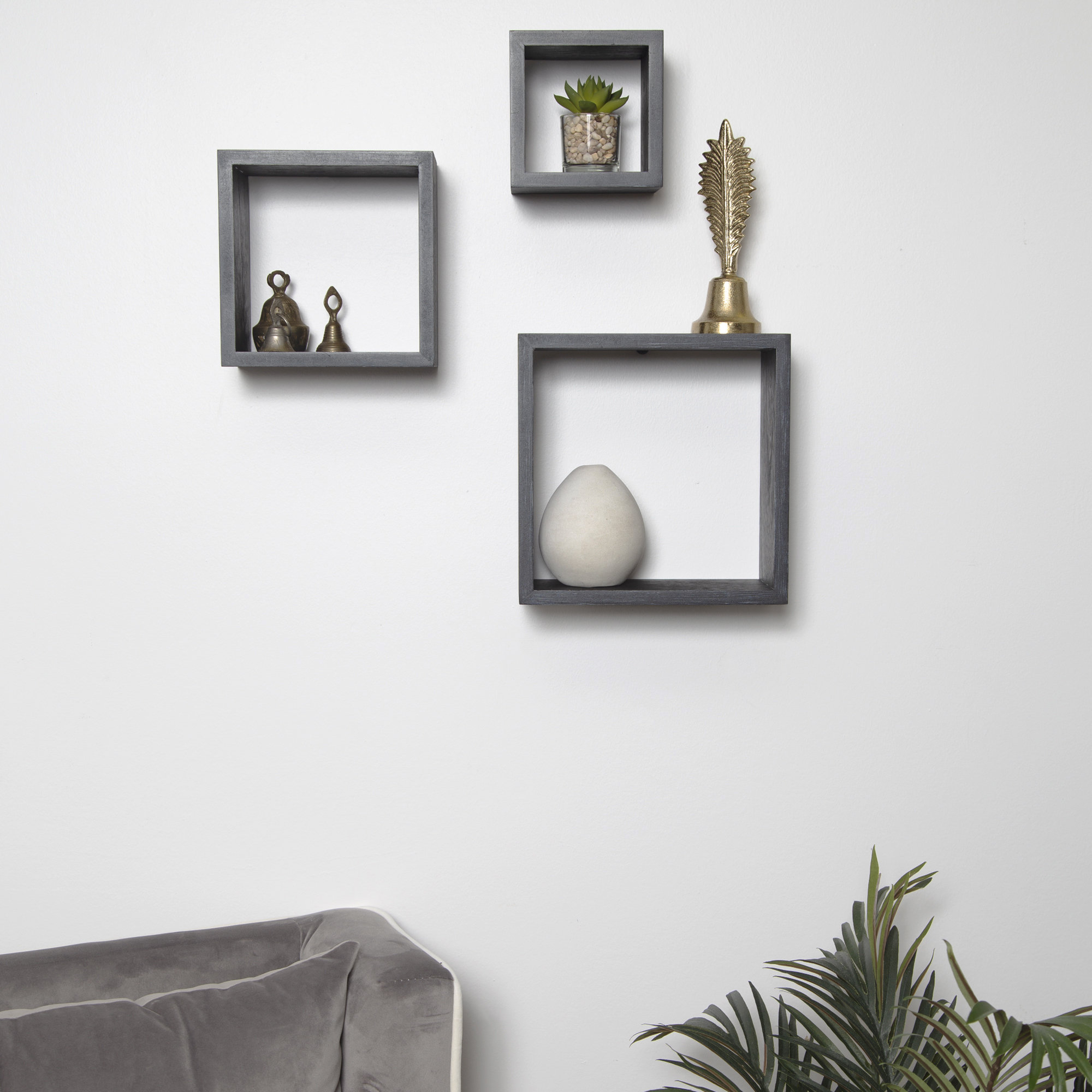 2019 Wrought Studio Bottoms Cube 3 Piece Wall Shelf Set (Gallery 10 of 20)