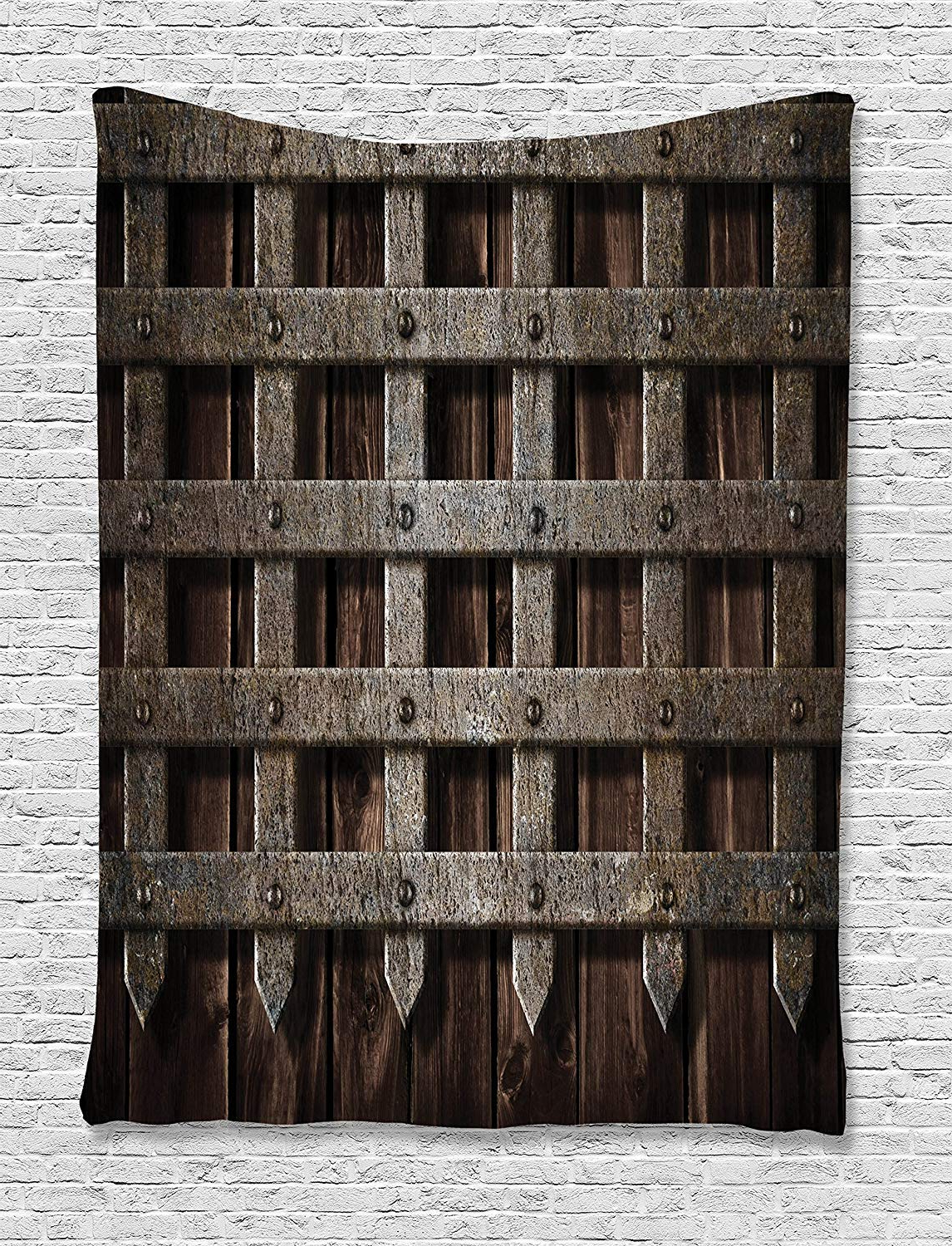 2020 Amazon: Medieval Decor Tapestryambesonne, Medieval Wooden Throughout Maxwell Wood And Metal Wall Decor (View 2 of 20)